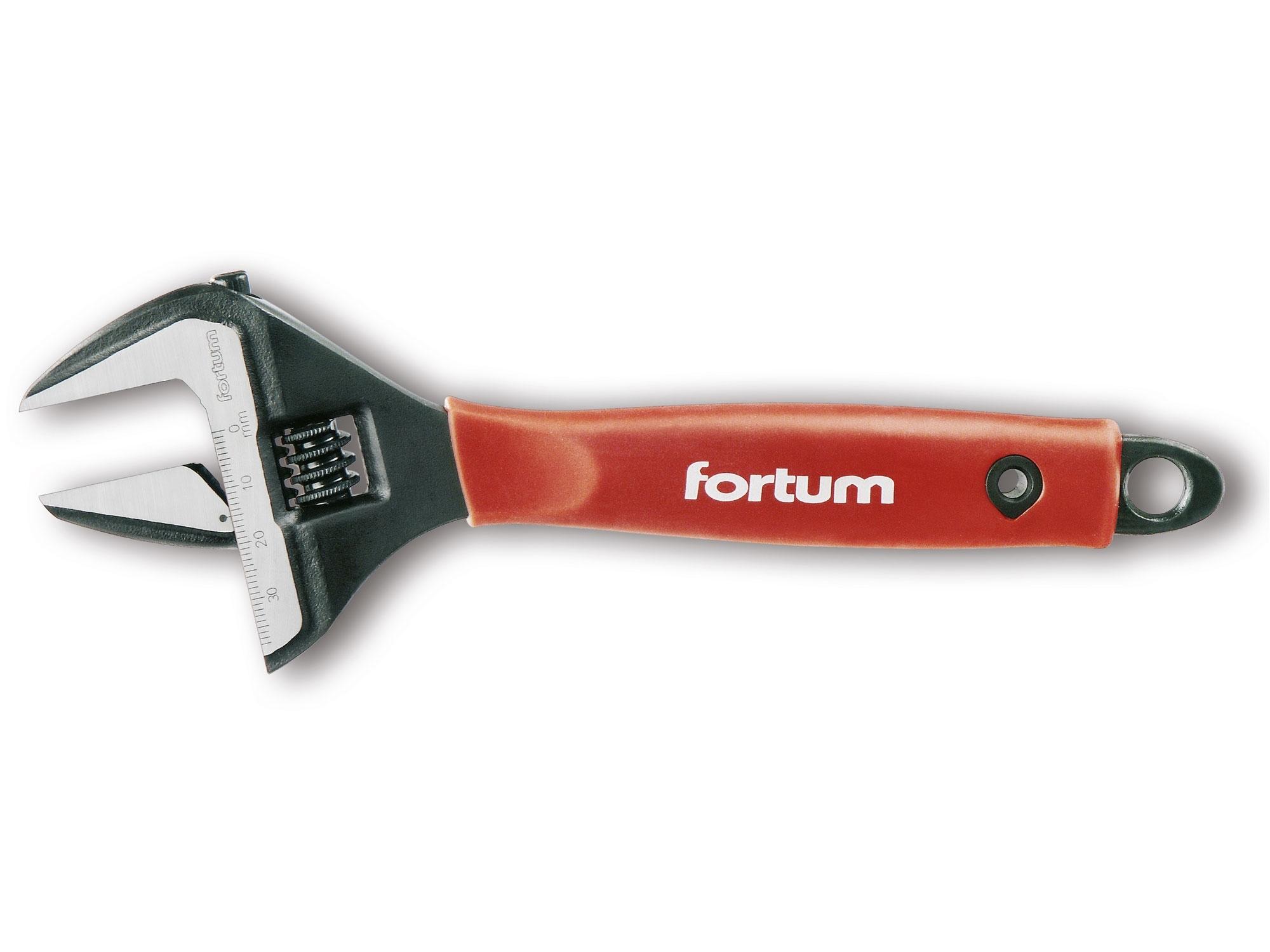 """klíč nastavitelný instalatérský, 210mm/8"""", rozsah 0-38mm, FORTUM 4775008"""