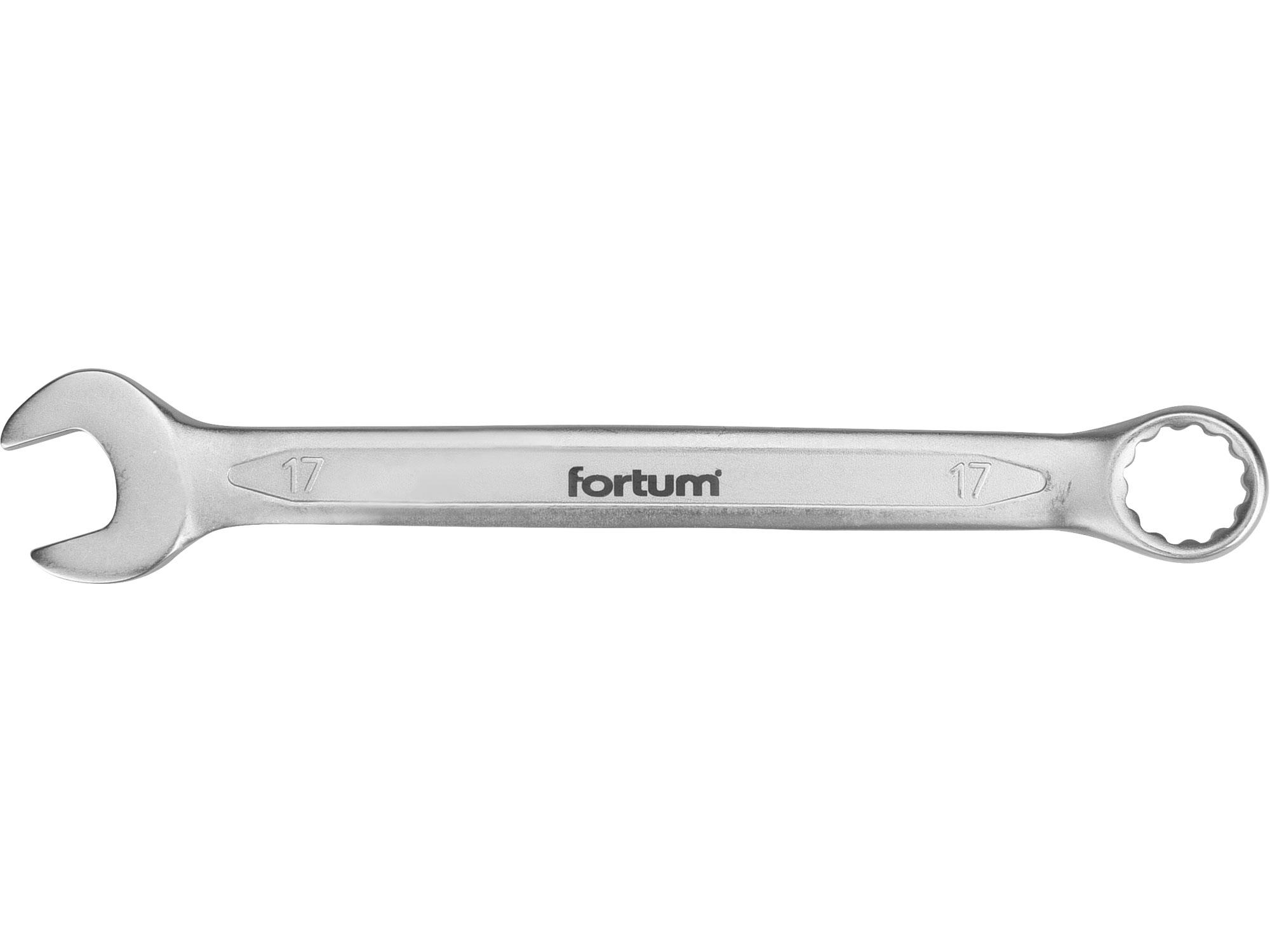 klíč očkoplochý, 17mm, L 221mm, FORTUM 4730217