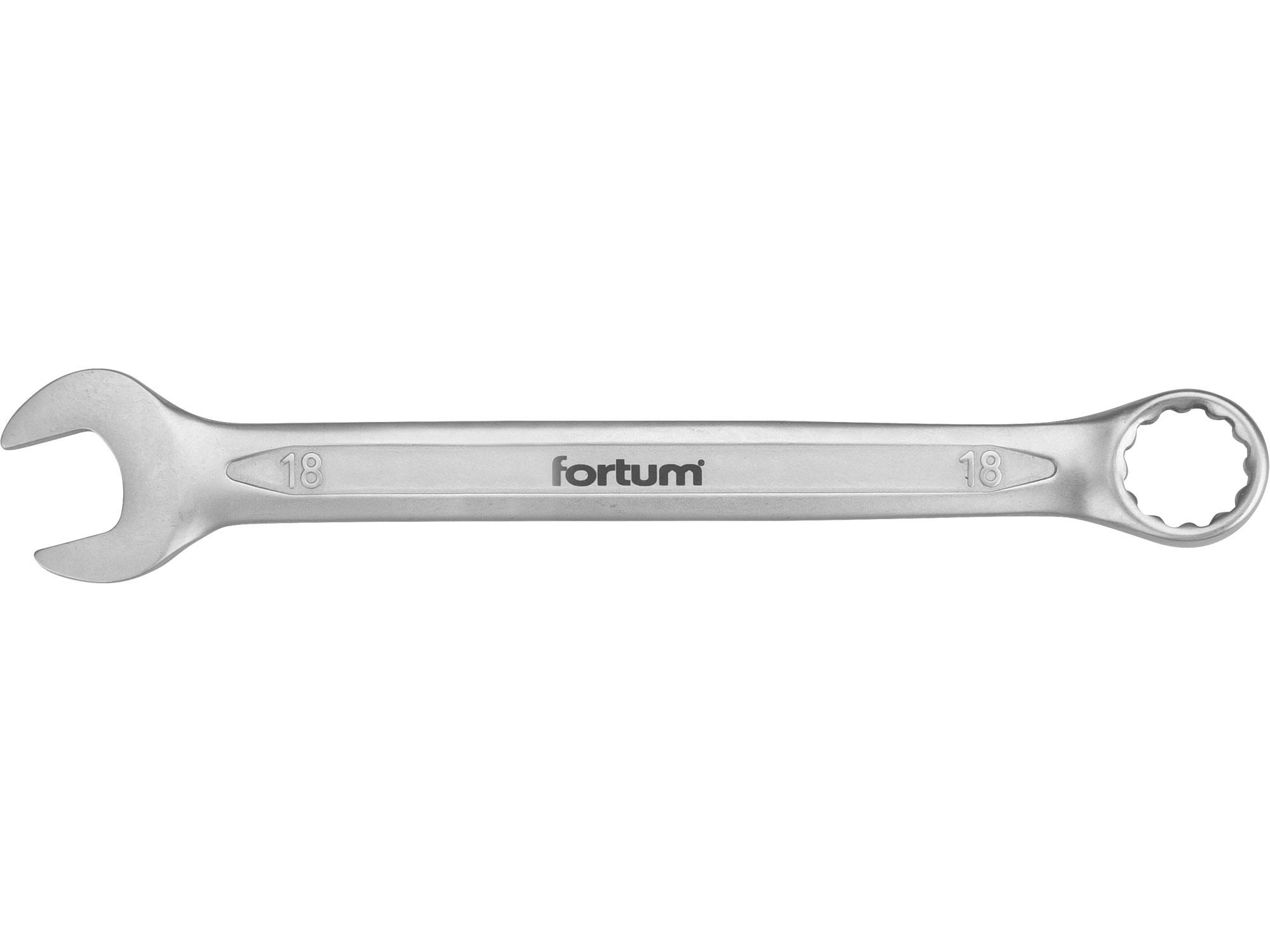klíč očkoplochý, 18mm, L 231mm, FORTUM 4730218