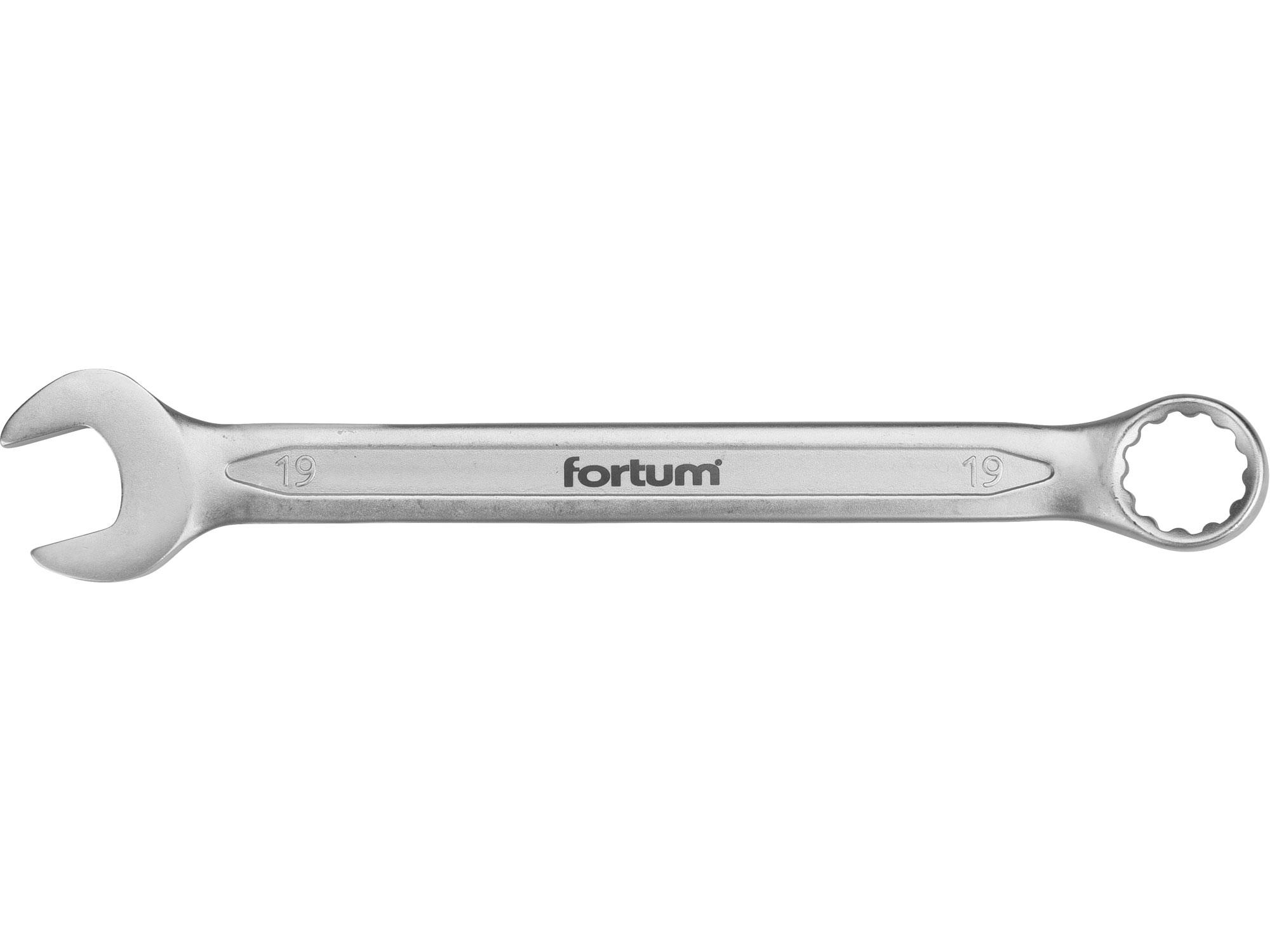 klíč očkoplochý, 19mm, L 241mm, FORTUM 4730219