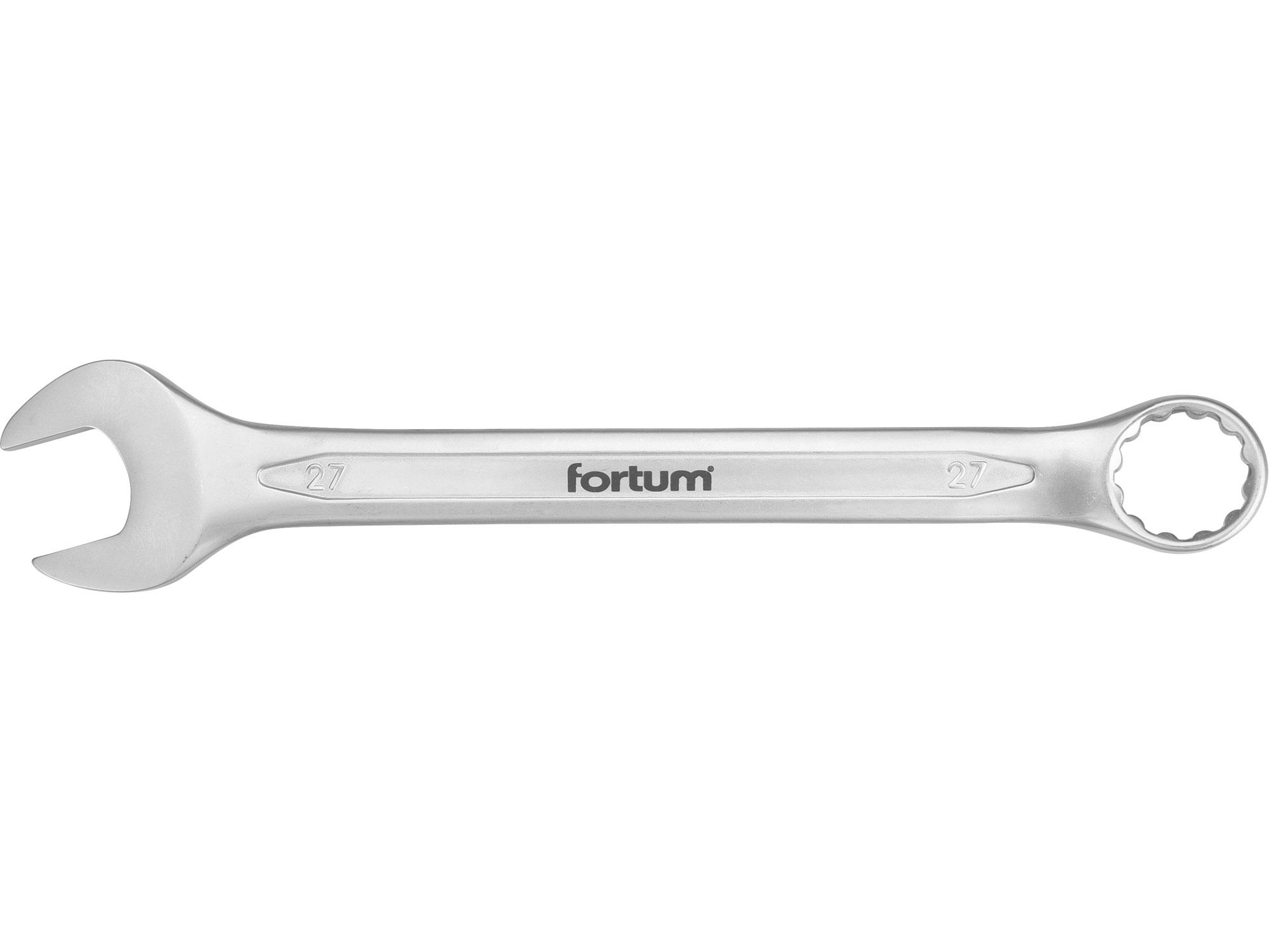 klíč očkoplochý, 27mm, L 323mm, FORTUM 4730227