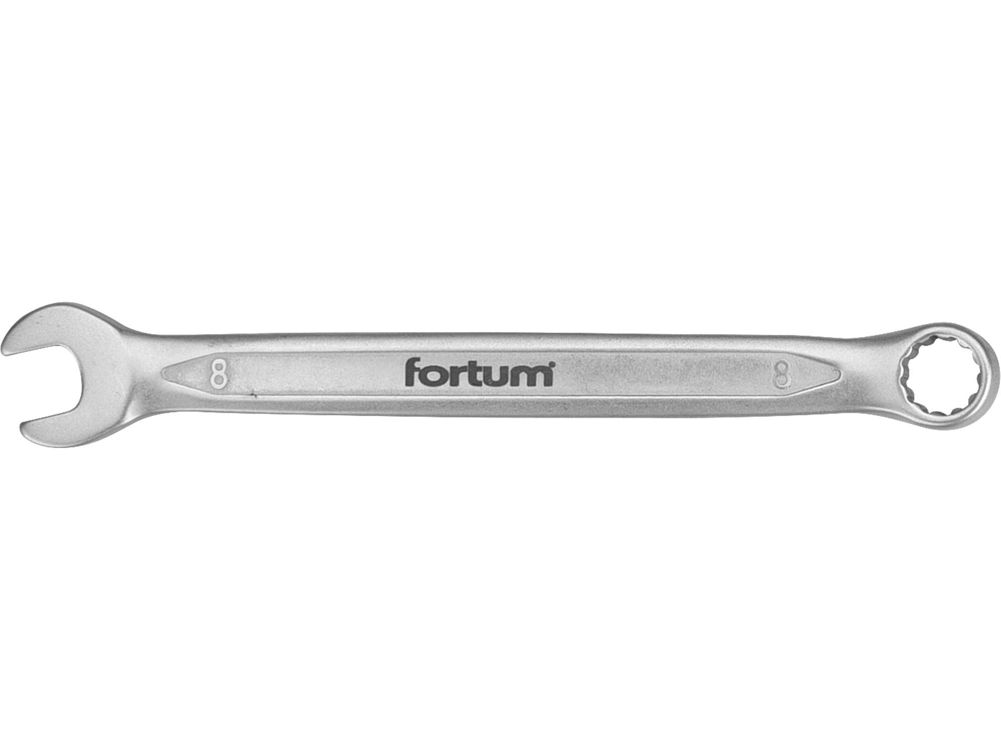 klíč očkoplochý, 8mm, L 131mm, FORTUM 4730208