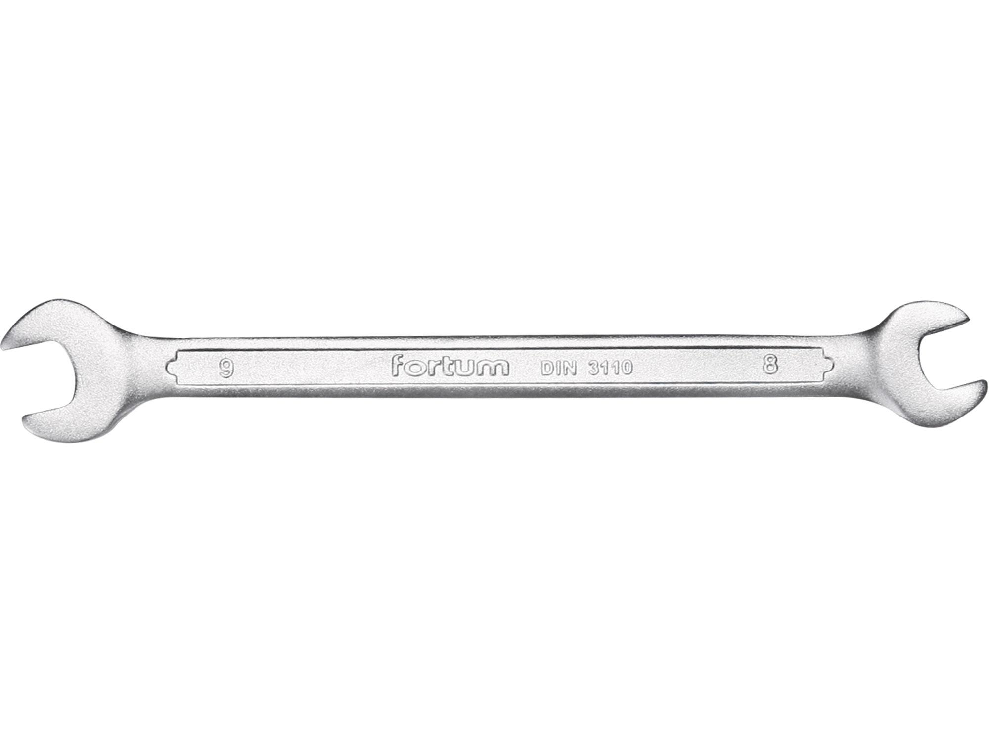 klíč plochý, 8x9mm, L 141mm, FORTUM 4730109