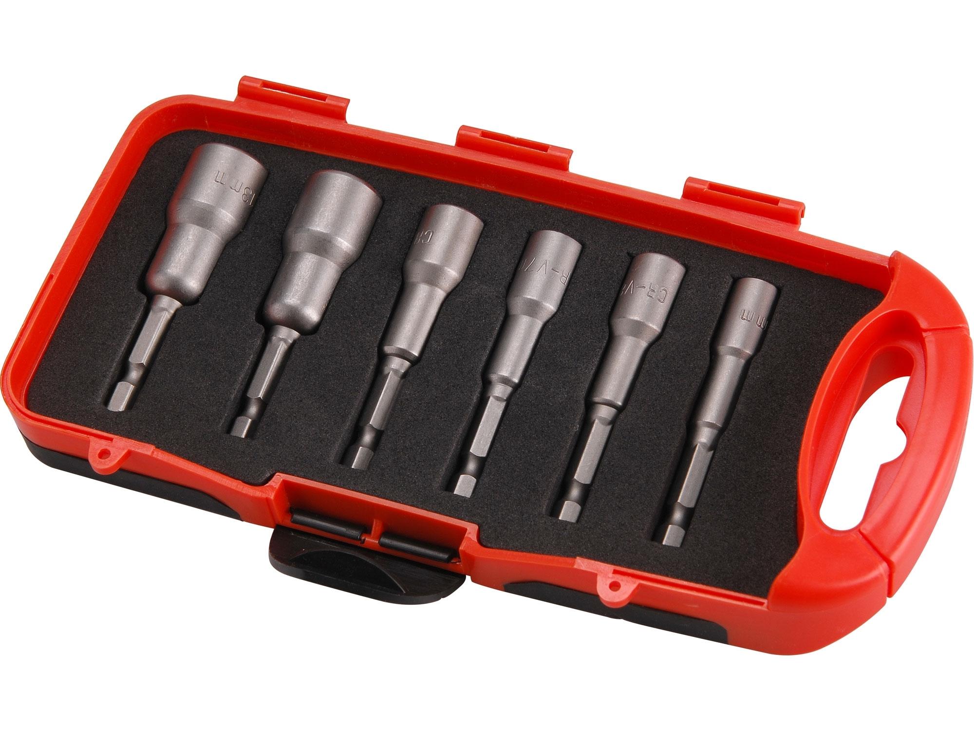 klíče nástrčné do vrtačky, sada 6ks, 6-13mm, EXTOL PREMIUM 8819630
