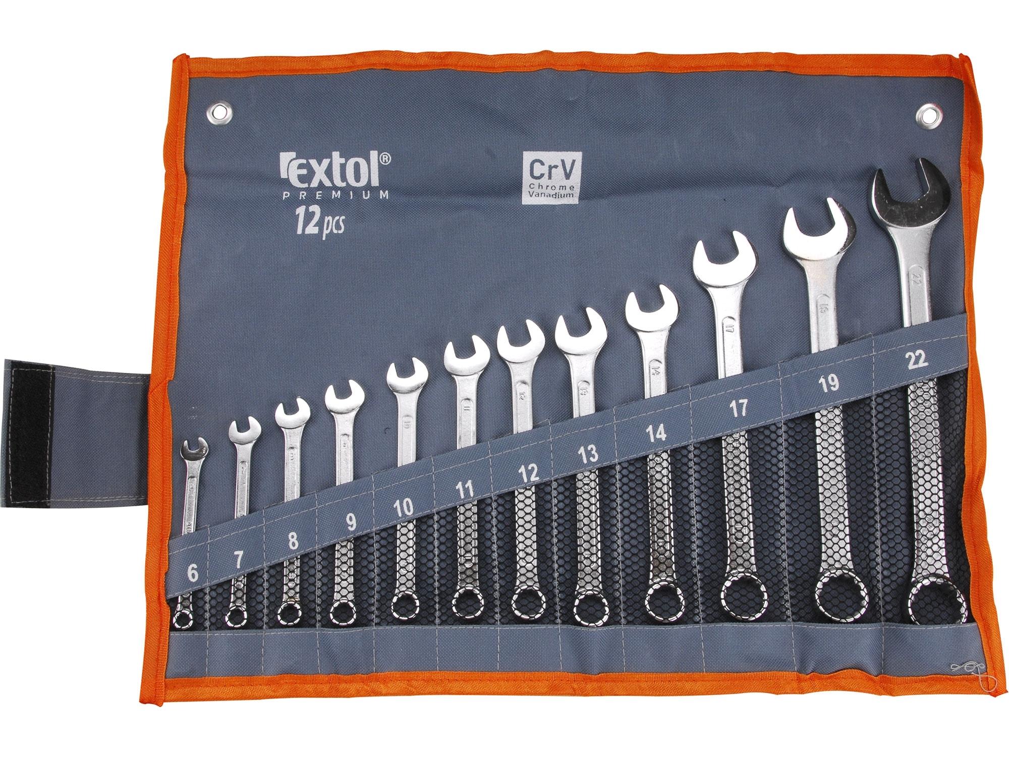 Klíče 6-22 12d očkové otevř. EXTOL