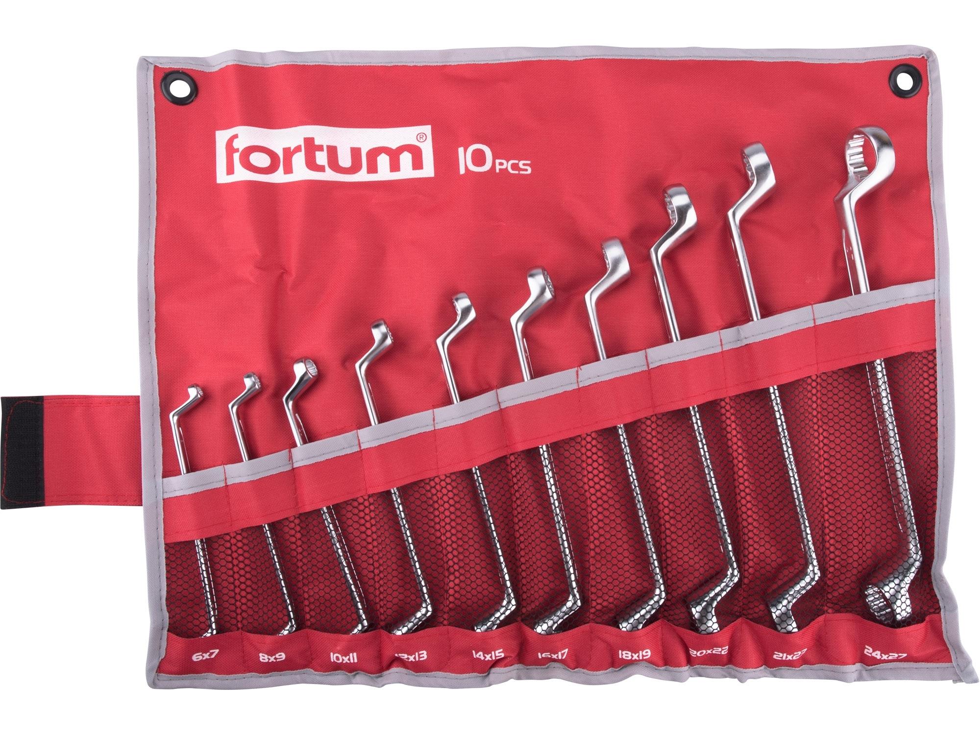 klíče očkové, sada 10ks, 6-27mm, FORTUM 4730301