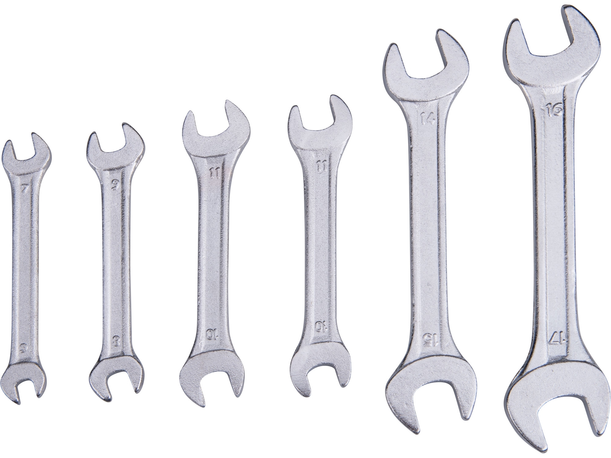 klíče ploché, sada 6ks, 6-17mm, EXTOL CRAFT 6106B