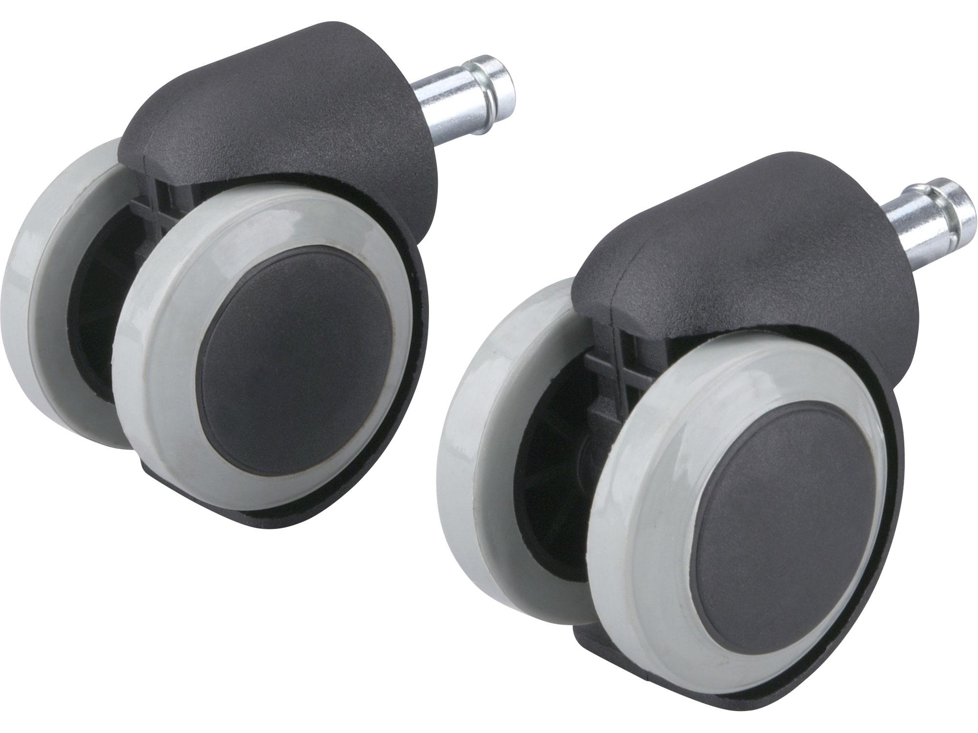 kolečka otočná s PU obručí, sada 2ks, průměr 50mm, čep 11mm