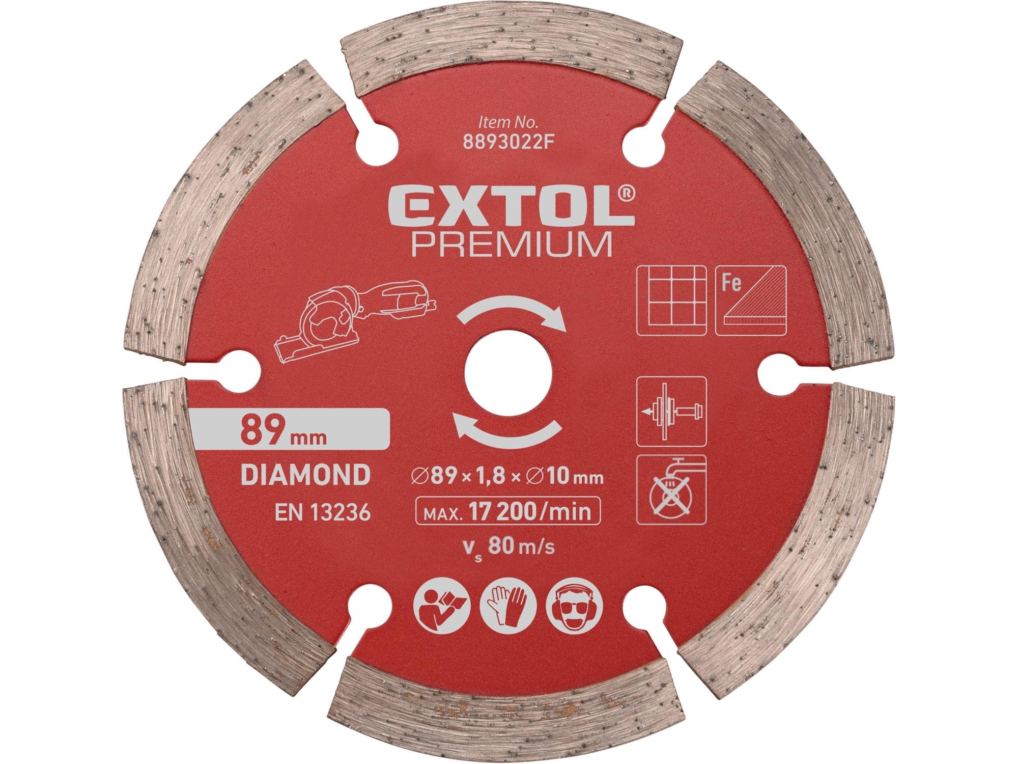 kotouč diamantový, řezný, segmentový, ⌀89x1,0x10mm