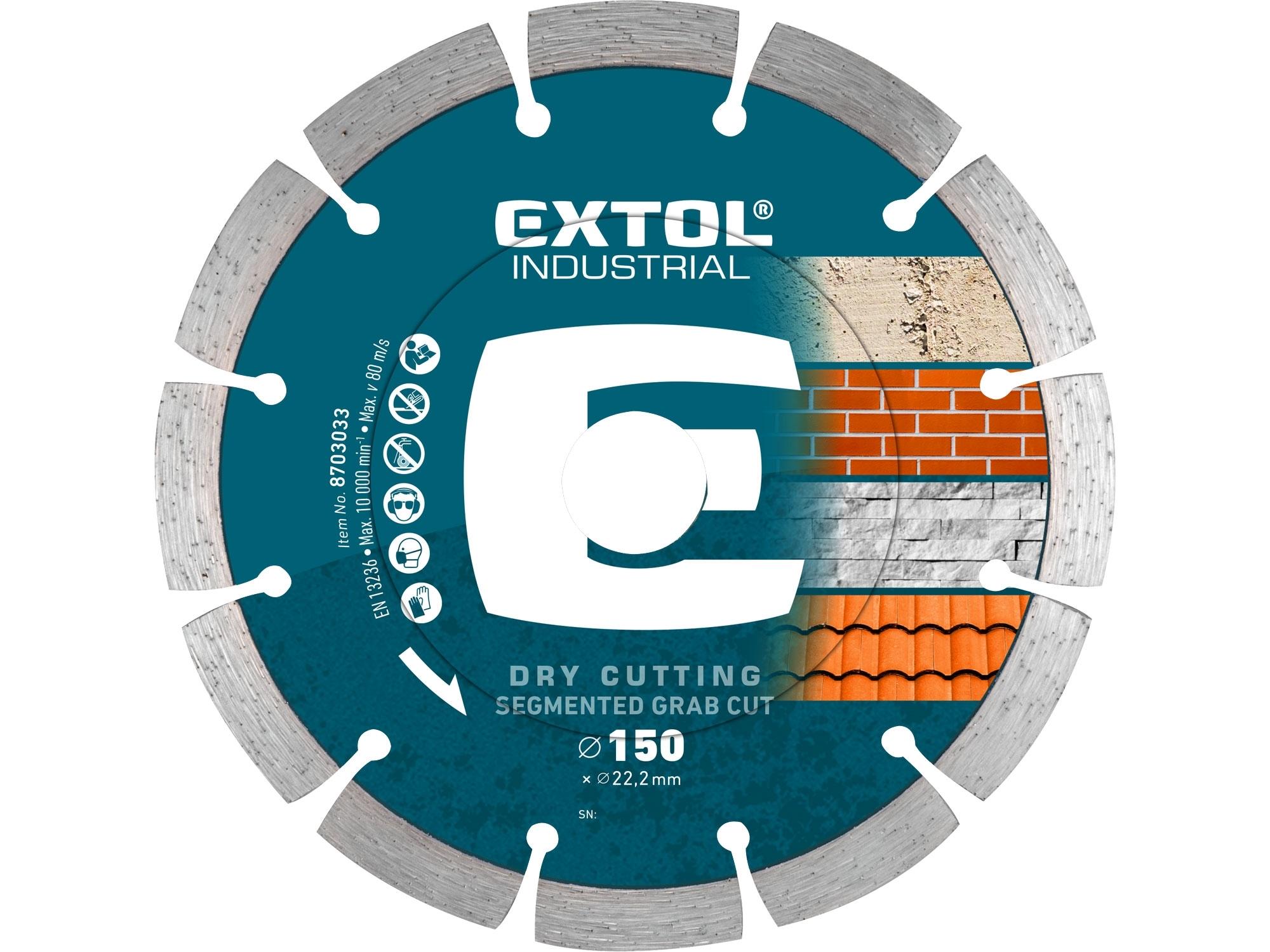 kotouč diamantový řezný segmentový Grab Cut, suché řezání, O 150x22,2x2,3mm