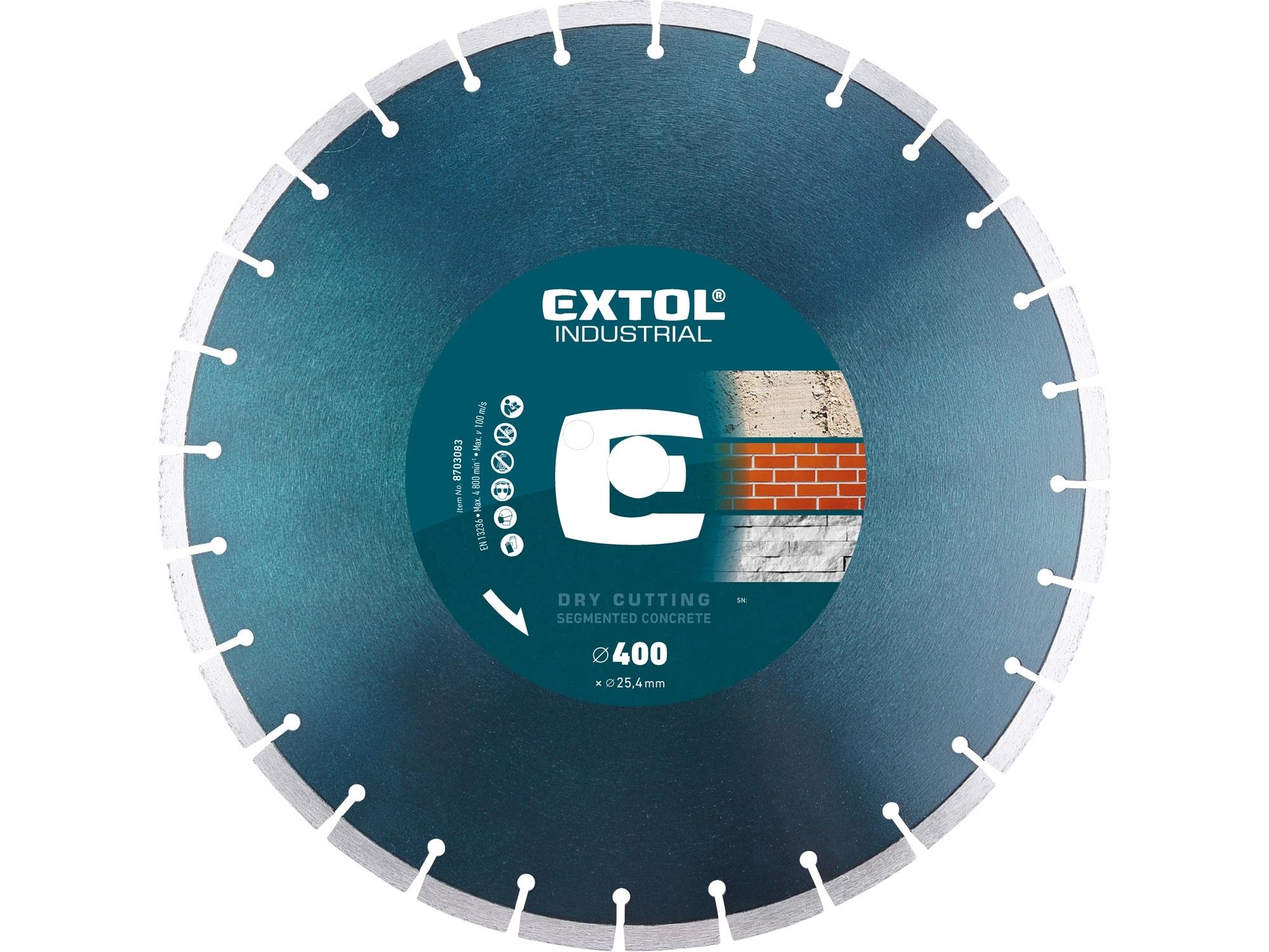 kotouč diamantový řezný segmentový na BETON, suché řezání, O 400x25,4x3,5mm