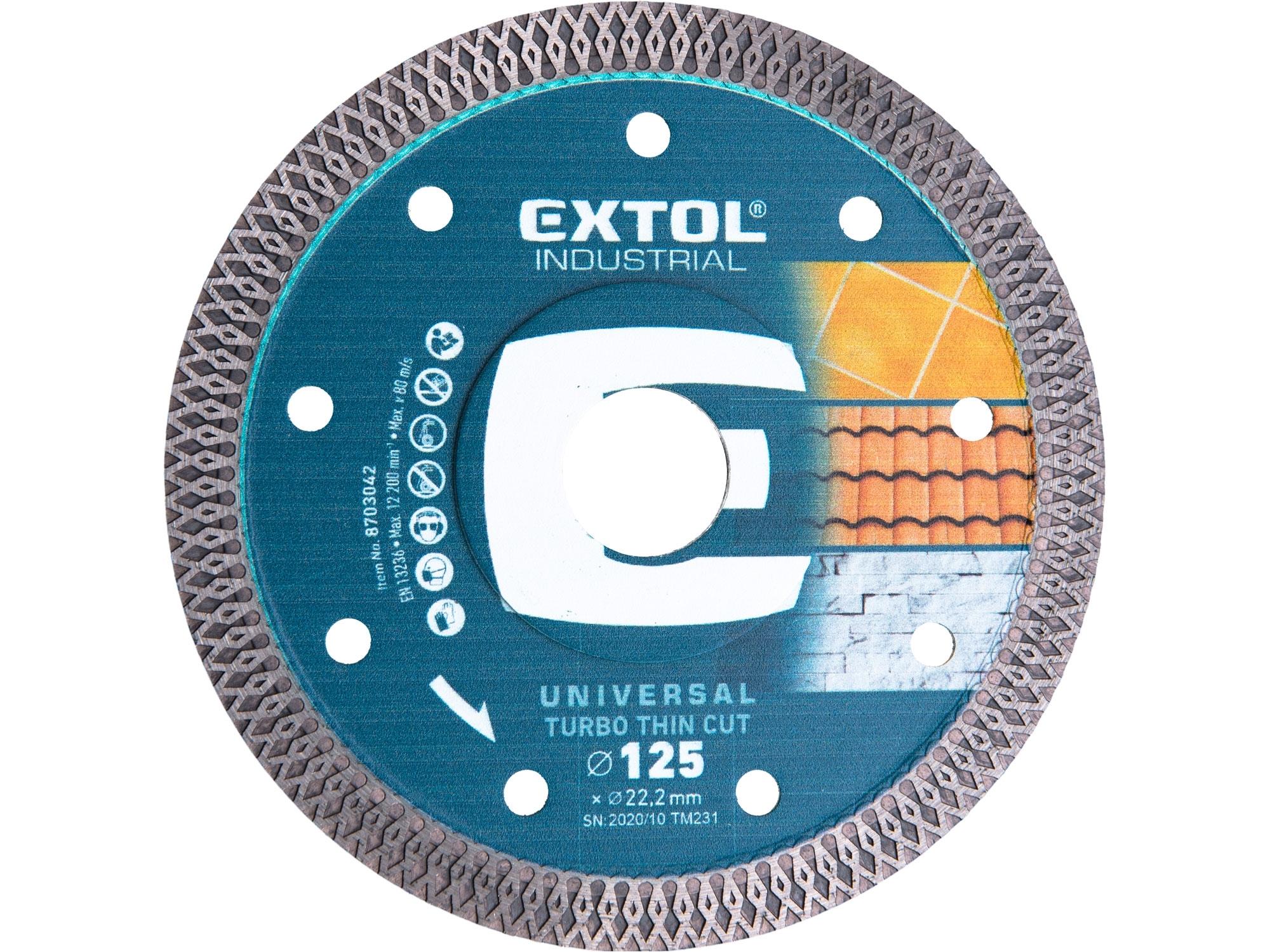 kotouč diamantový řezný, turbo Thin Cut, suché i mokré řezání, 125x22,2x1,5mm