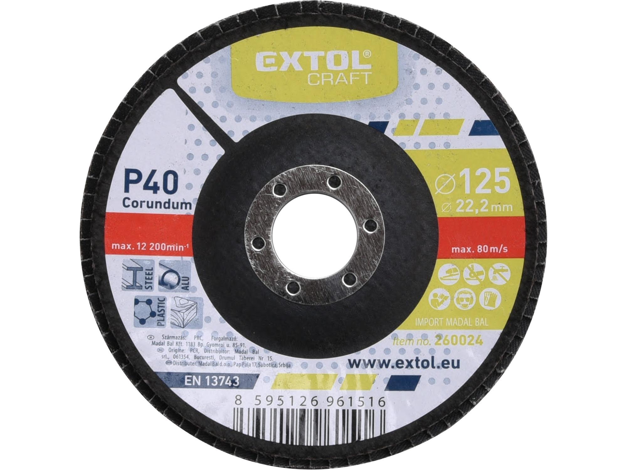 kotouč lamelový šikmý korundový, P40, O 125mm