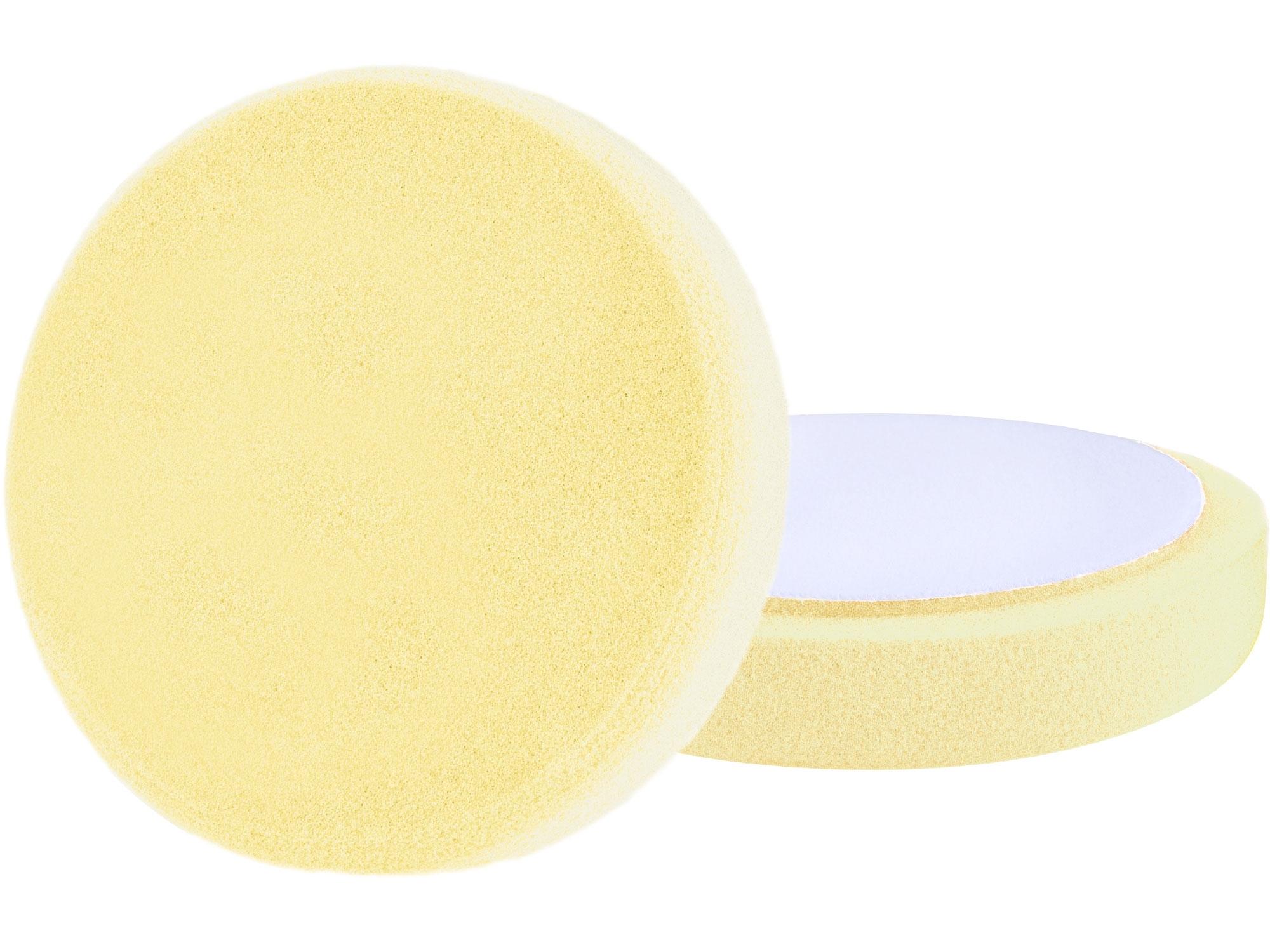 kotouč leštící pěnový, T80, žlutý, ⌀150x30mm, suchý zip ⌀125mm