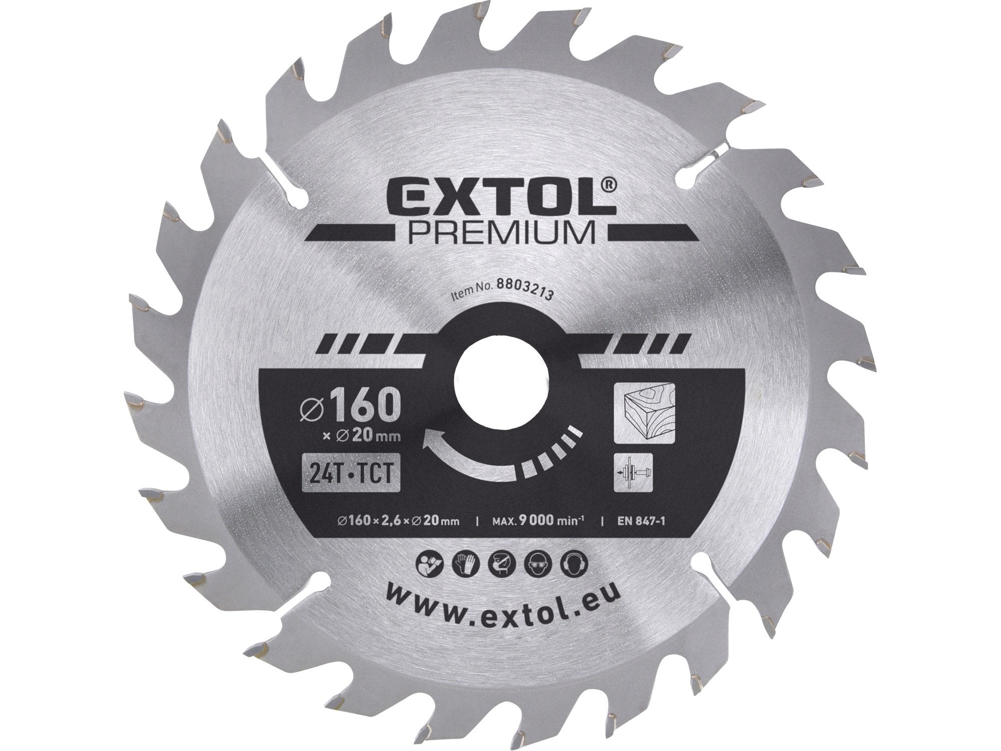 kotouč pilový s SK plátky, 160x2,0x20mm, EXTOL PREMIUM 8803213