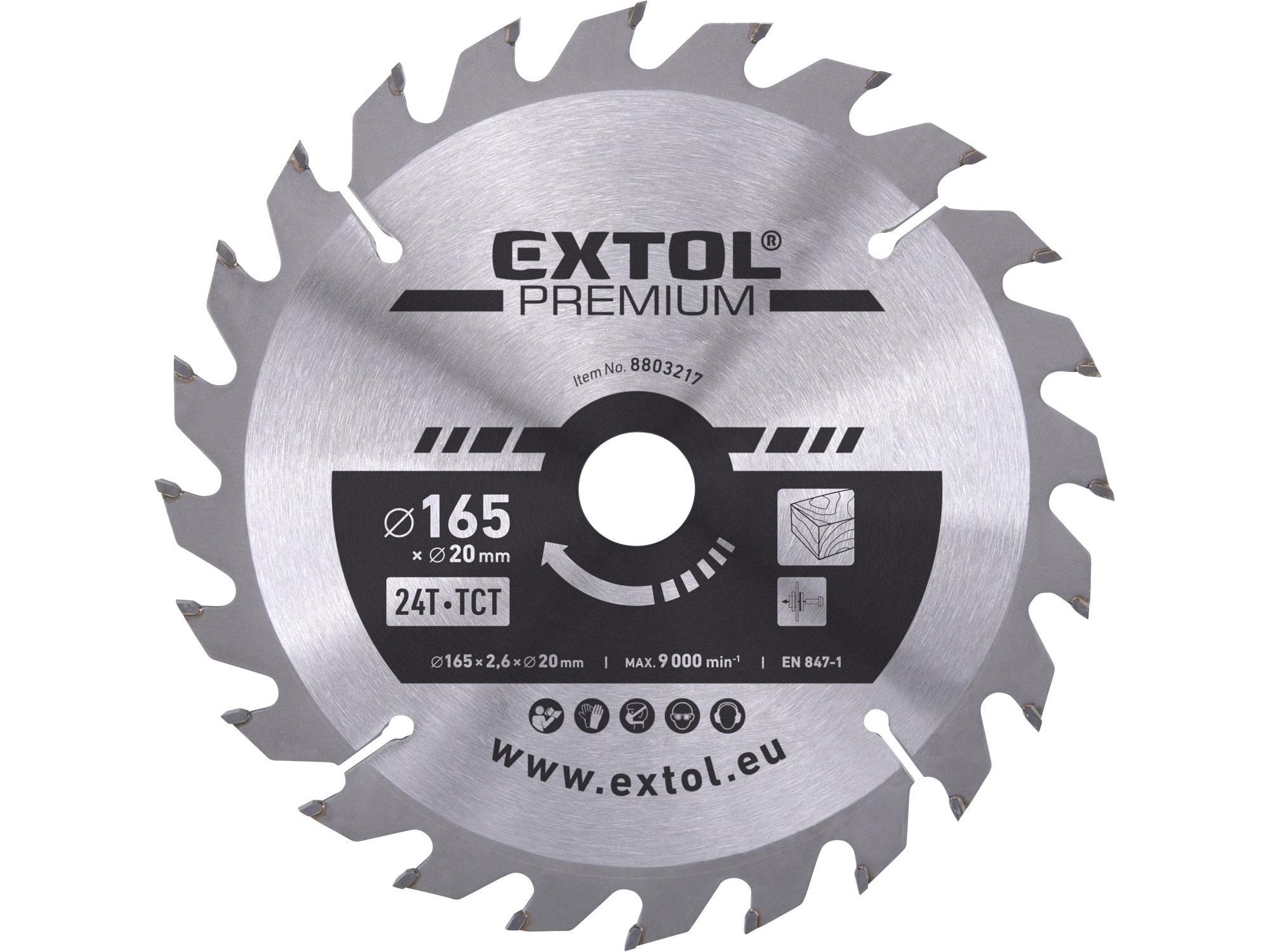 kotouč pilový s SK plátky, 165x2,0x20mm, EXTOL PREMIUM 8803217