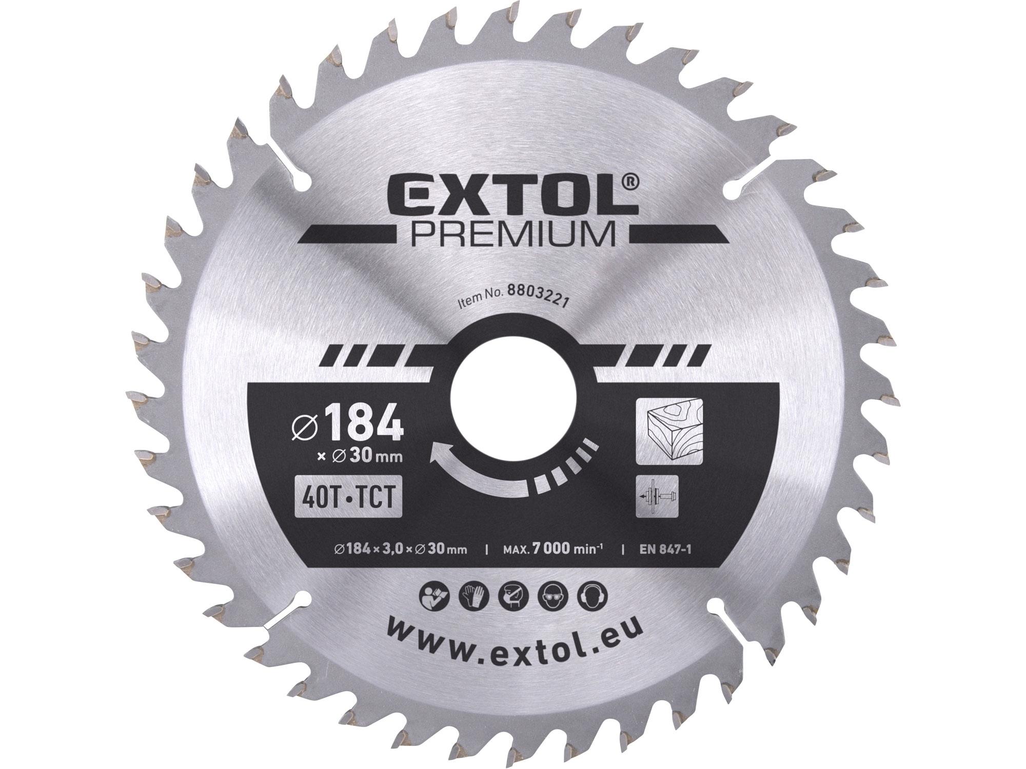 kotouč pilový s SK plátky, 184x2,2x30mm, EXTOL PREMIUM 8803221