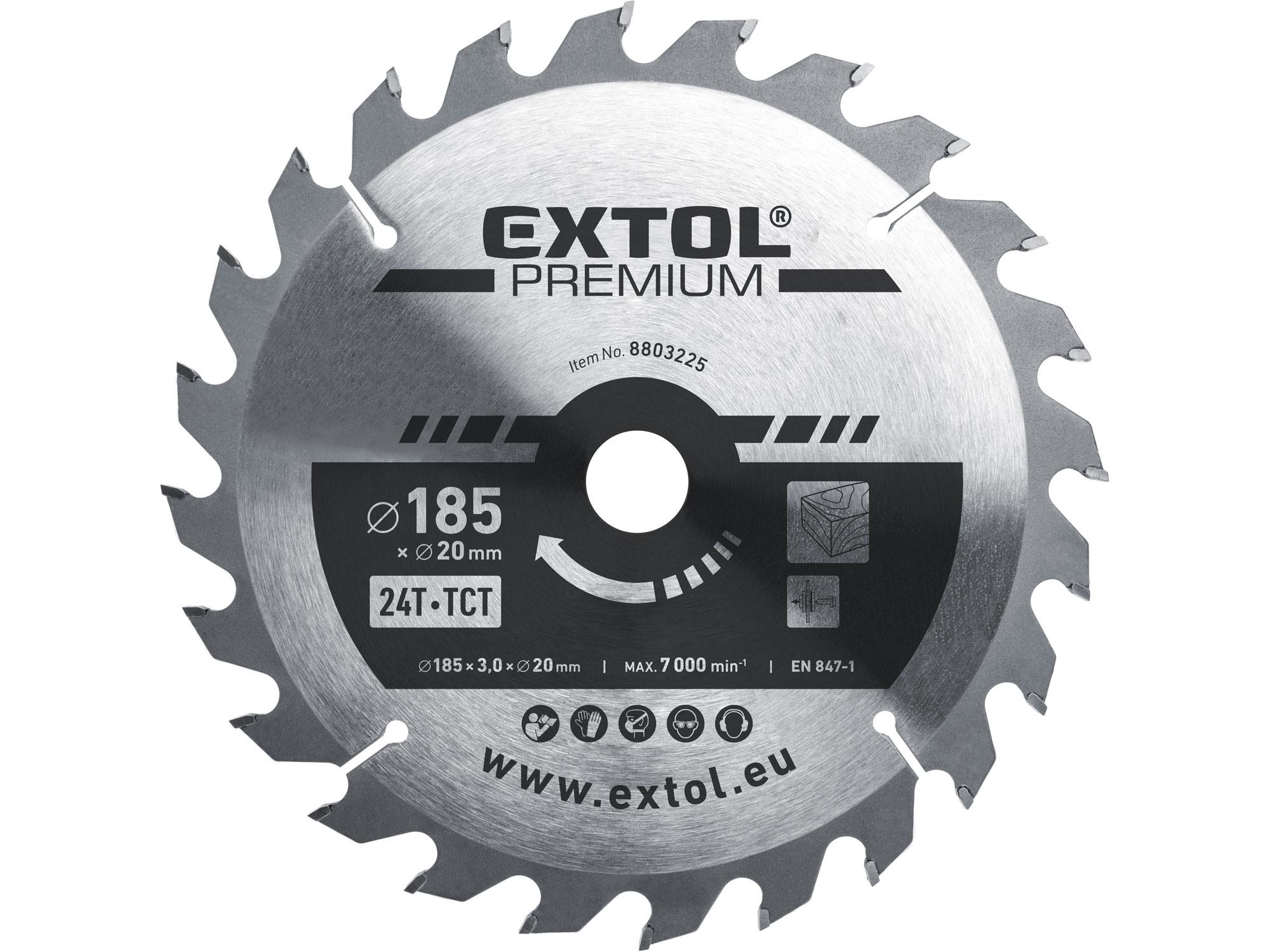 kotouč pilový s SK plátky, 185x2,2x20mm, EXTOL PREMIUM 8803225