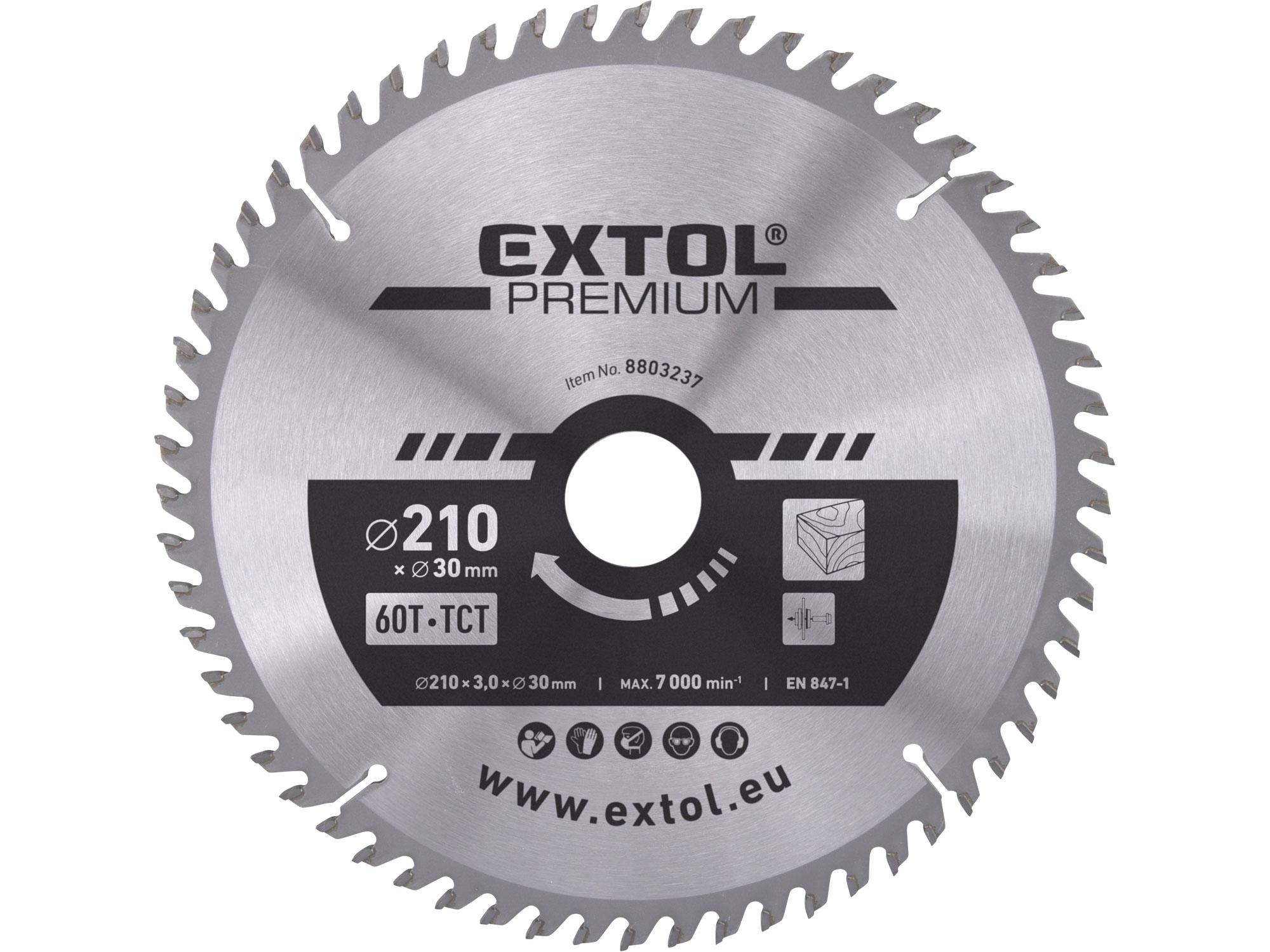 kotouč pilový s SK plátky, 210x2,2x30mm, EXTOL PREMIUM 8803237