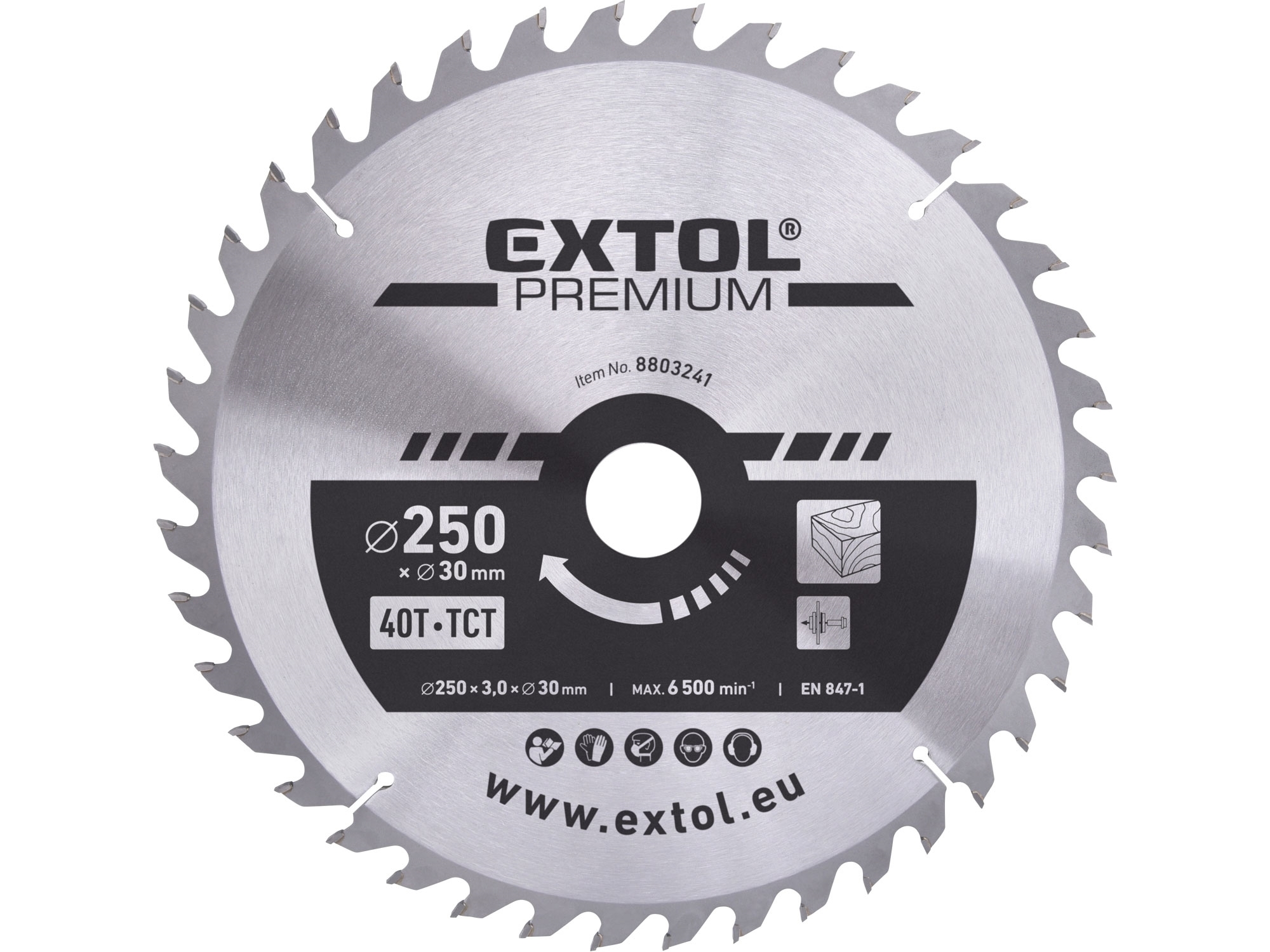 kotouč pilový s SK plátky, 250x2,2x30mm, EXTOL PREMIUM 8803241