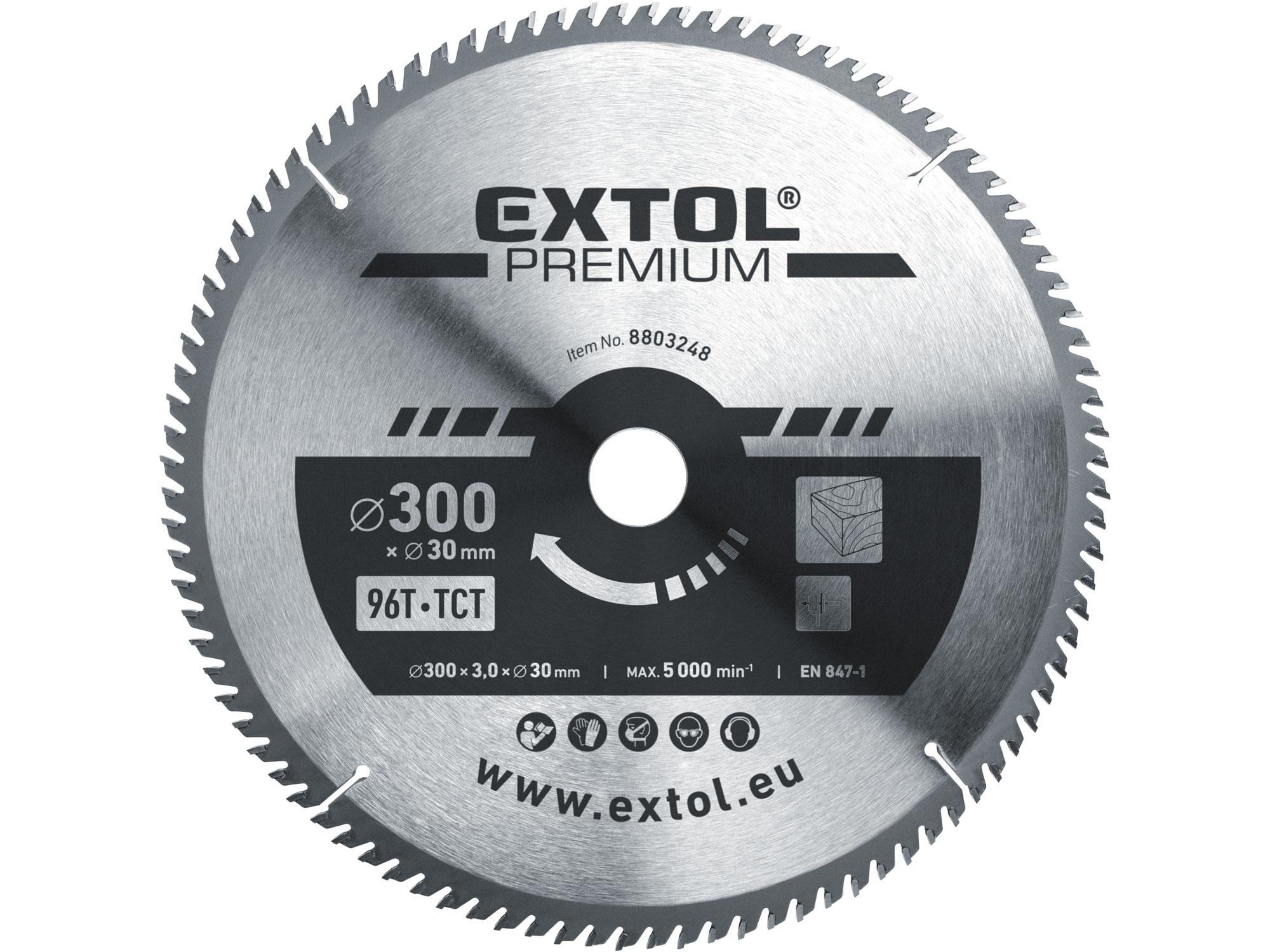 kotouč pilový s SK plátky, 300x2,2x30mm, EXTOL PREMIUM 8803248