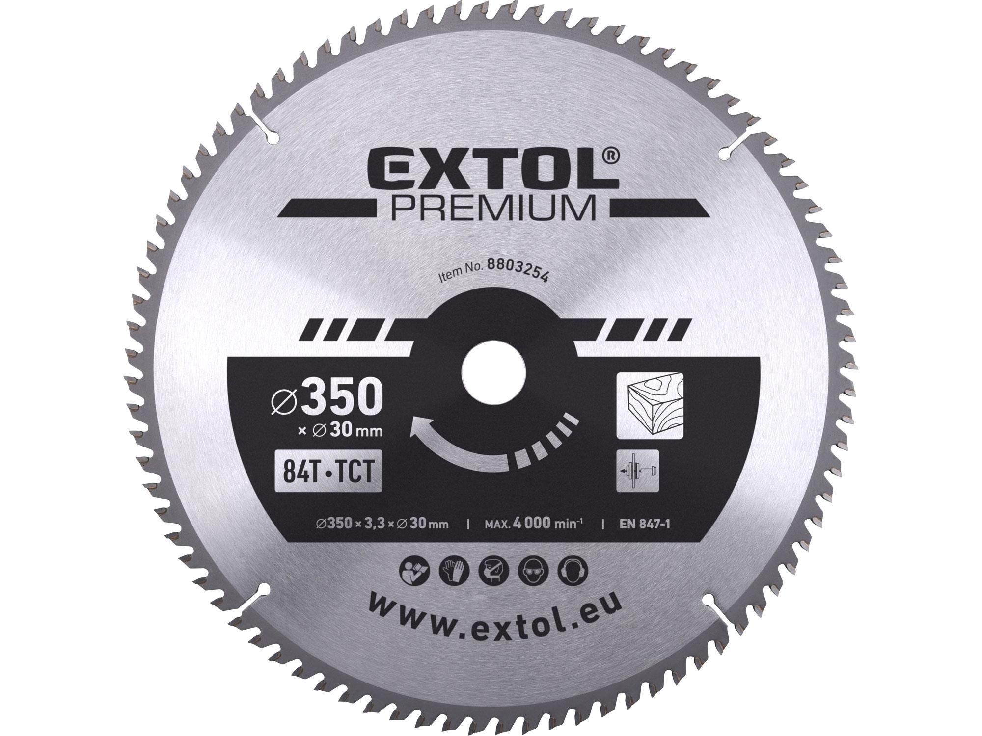kotouč pilový s SK plátky, 350x2,5x30mm, EXTOL PREMIUM 8803254