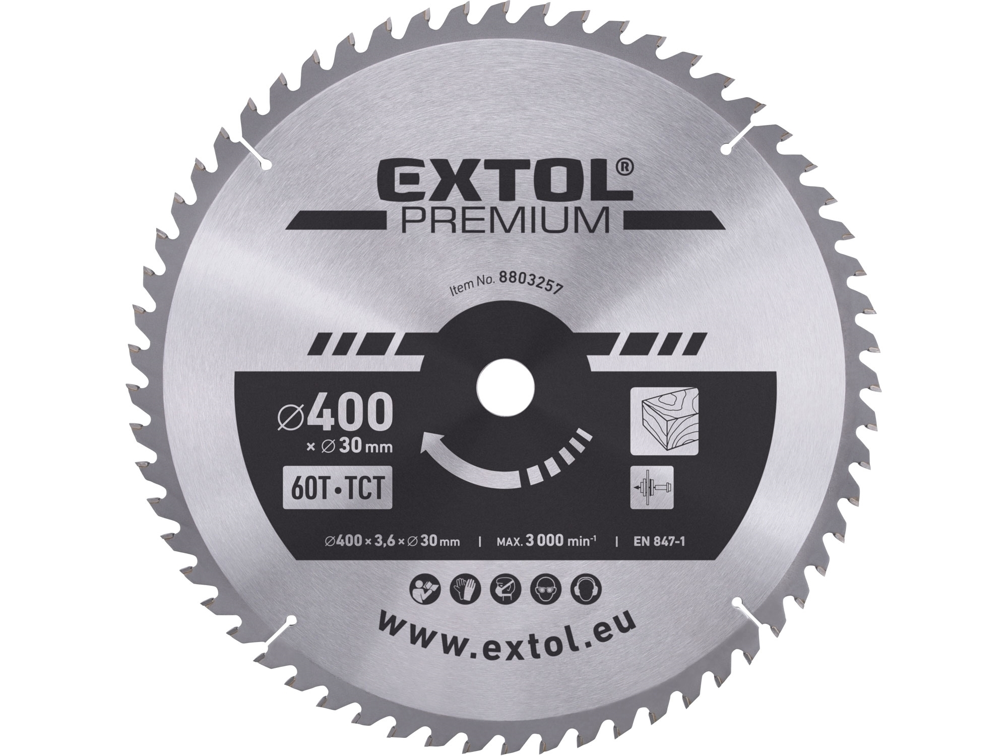 kotouč pilový s SK plátky, 400x2,8x30mm, EXTOL PREMIUM 8803257
