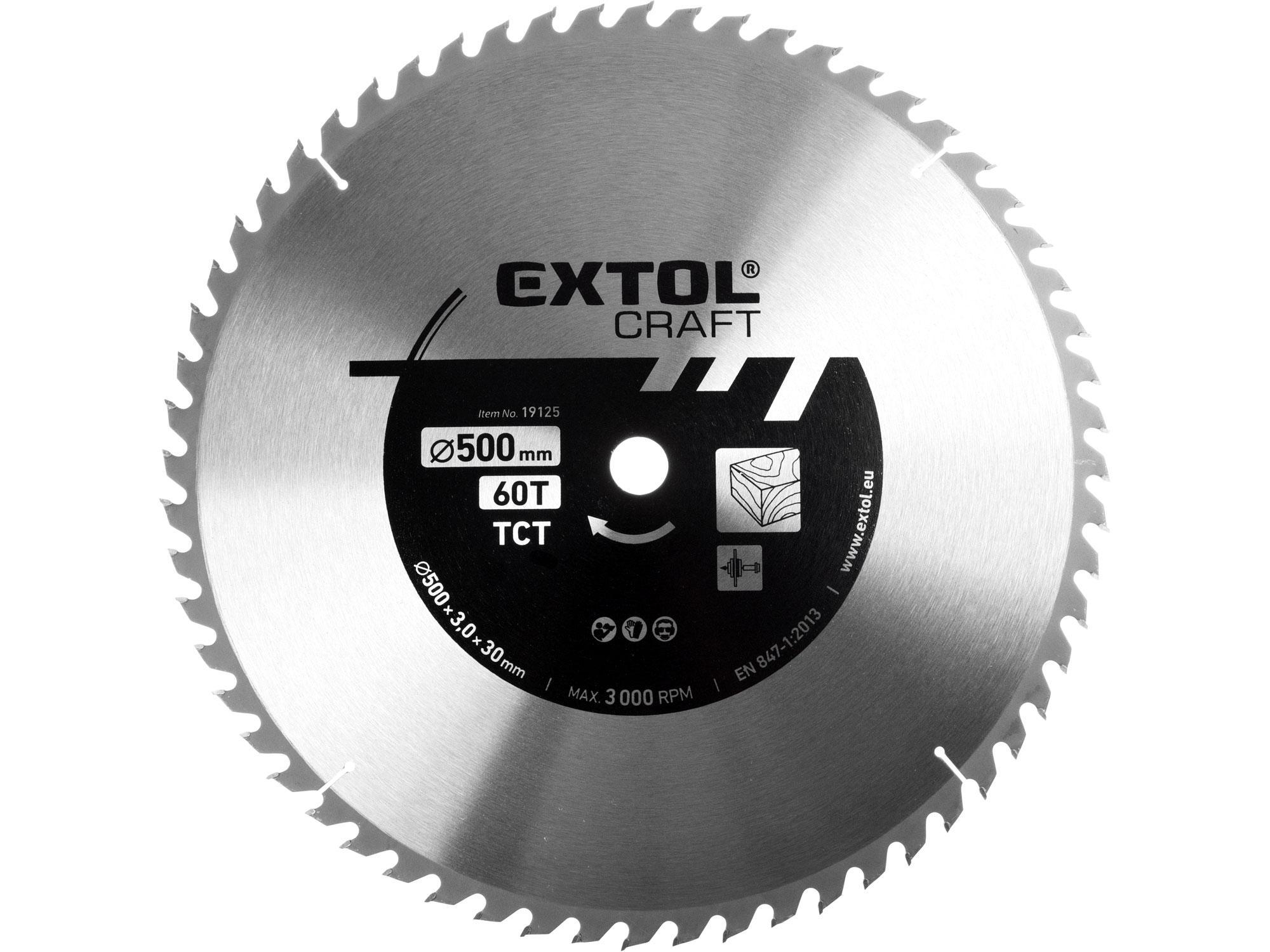kotouč pilový s SK plátky, 500x3,0x30mm, 60T, EXTOL CRAFT 19125
