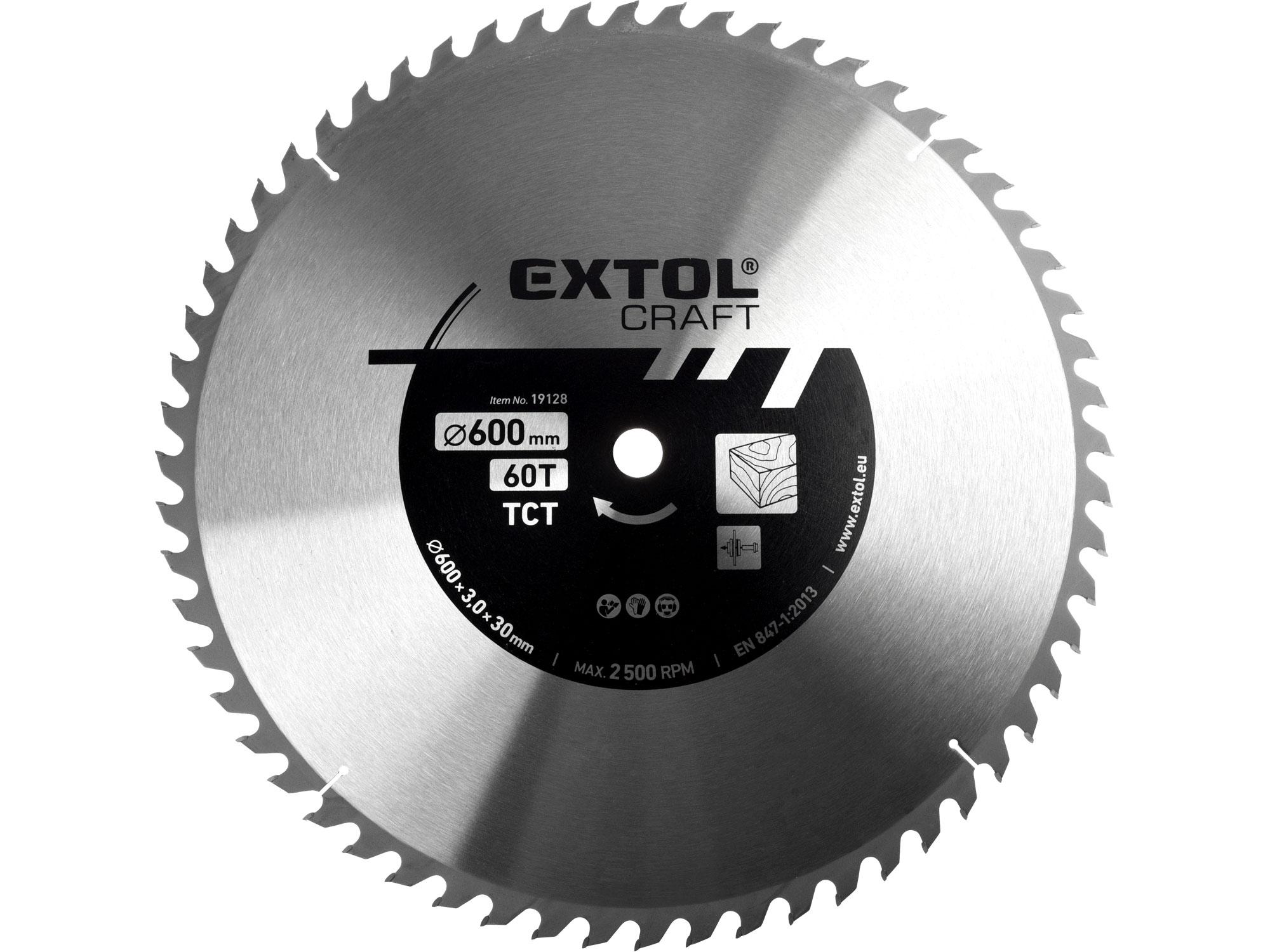 kotouč pilový s SK plátky, 600x3,0x30mm, 60T, EXTOL CRAFT 19128
