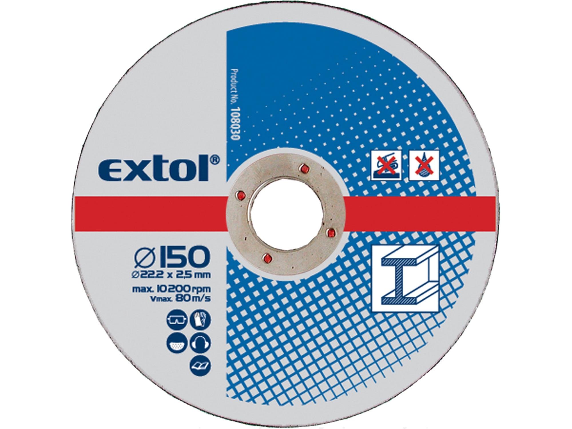 kotouče řezné na kov, 5ks, 150x2,5x22,2mm, EXTOL CRAFT 108030