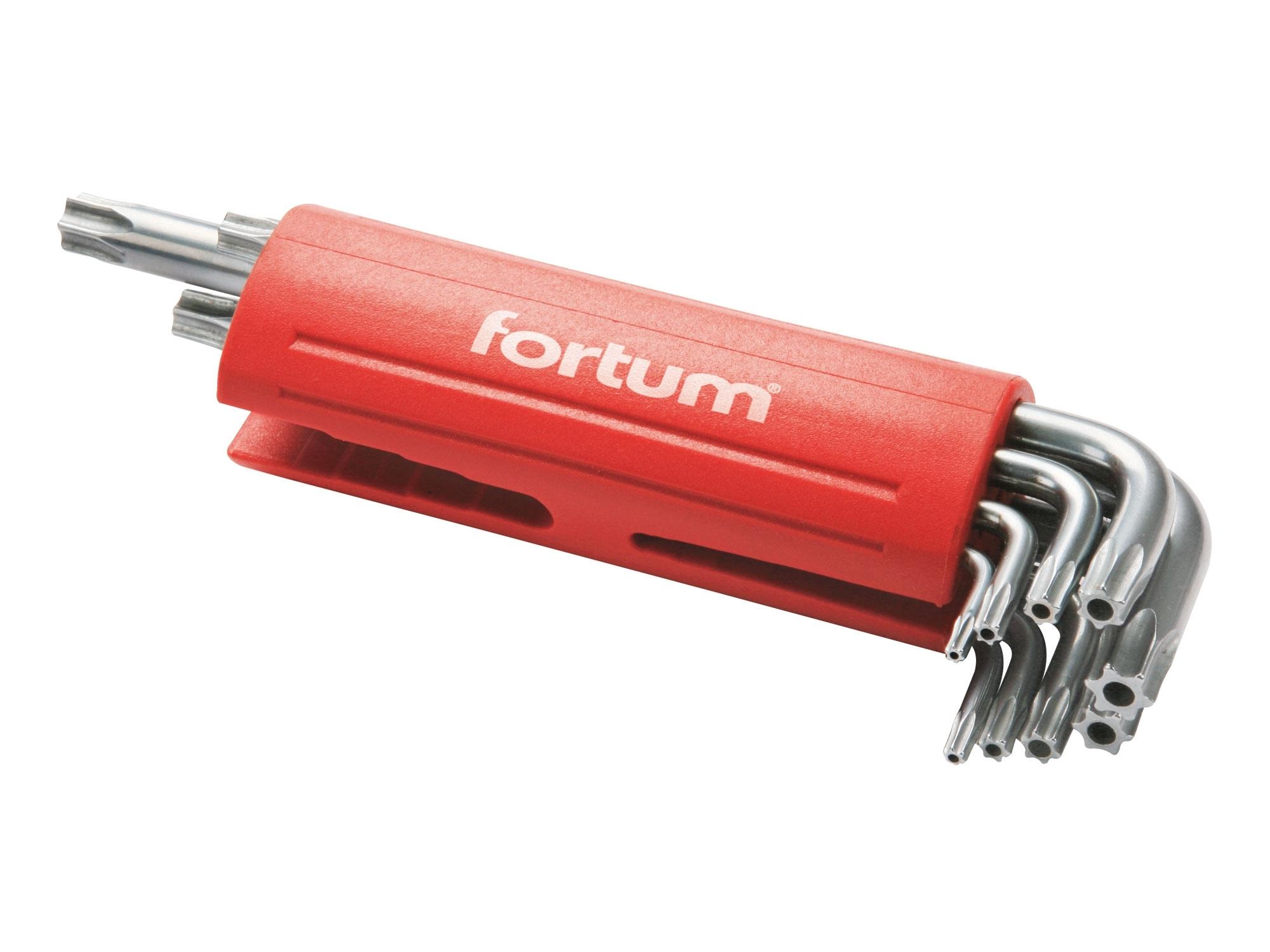 L-klíče TORX vrtané, sada 9ks, 10-50mm