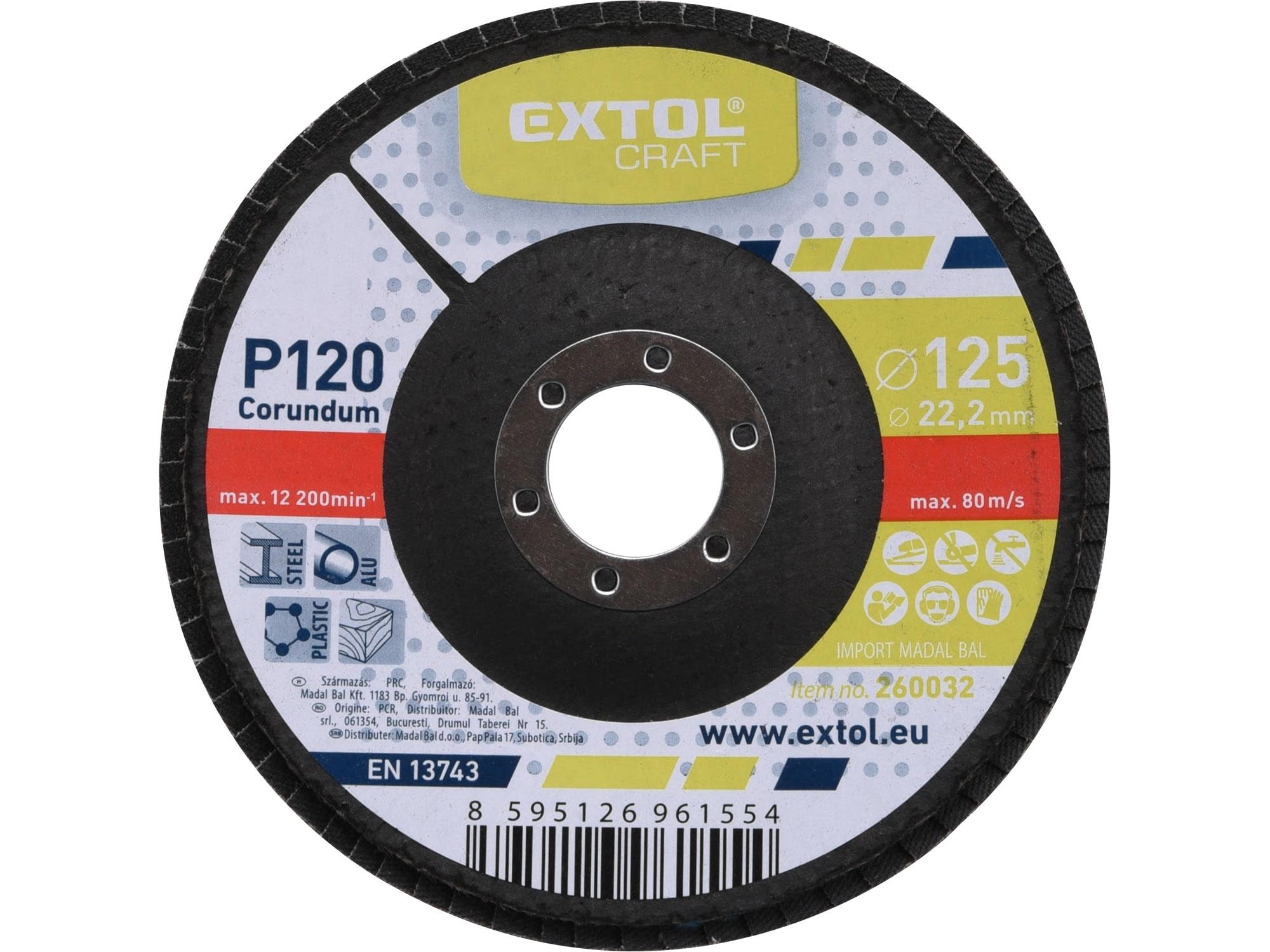 lamelový kotouč šikmý korundový, P120, 125mm