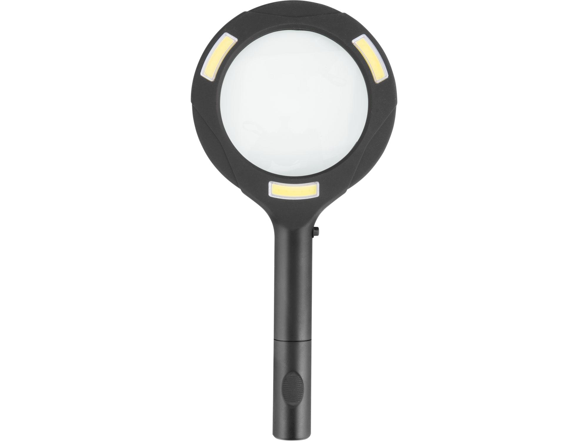 lupa se světlem 80lm, 5x zvětšení, 3x0,5W COB LED
