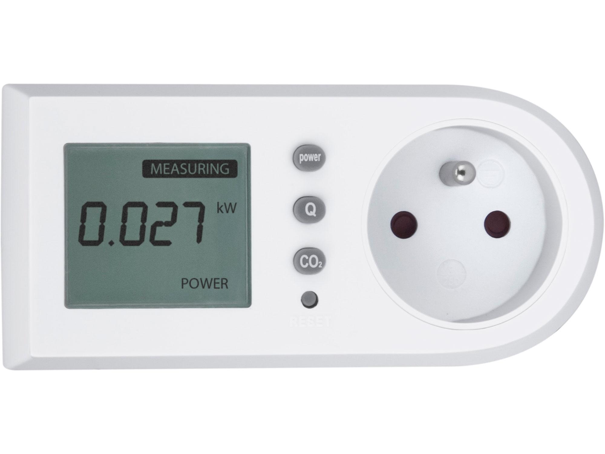 měřič spotřeby el. energie - wattmetr, měří kW, kWh, CO2, EXTOL LIGHT 43900