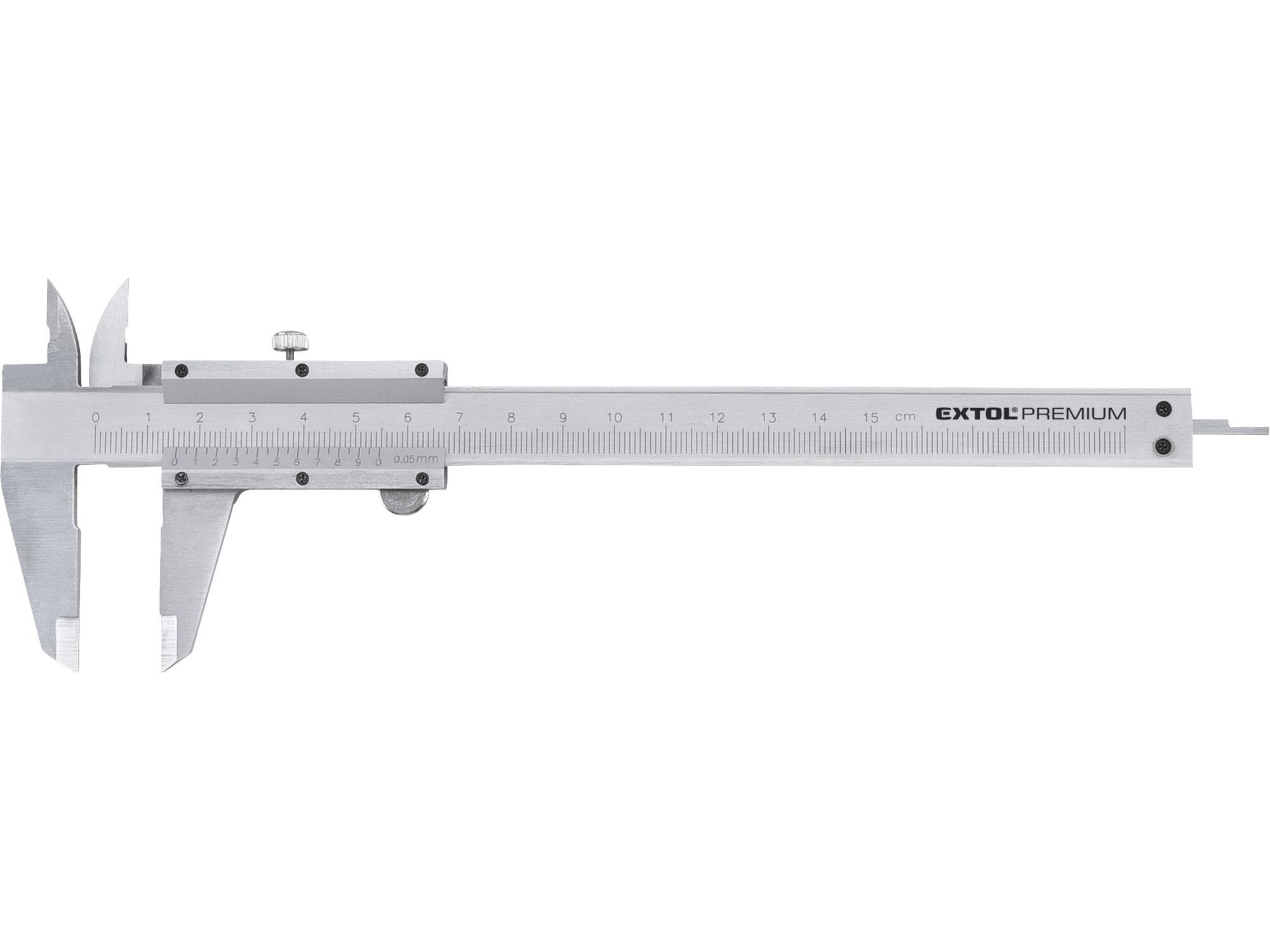 měřítko posuvné kovové, 0-150mm, EXTOL PREMIUM 3425