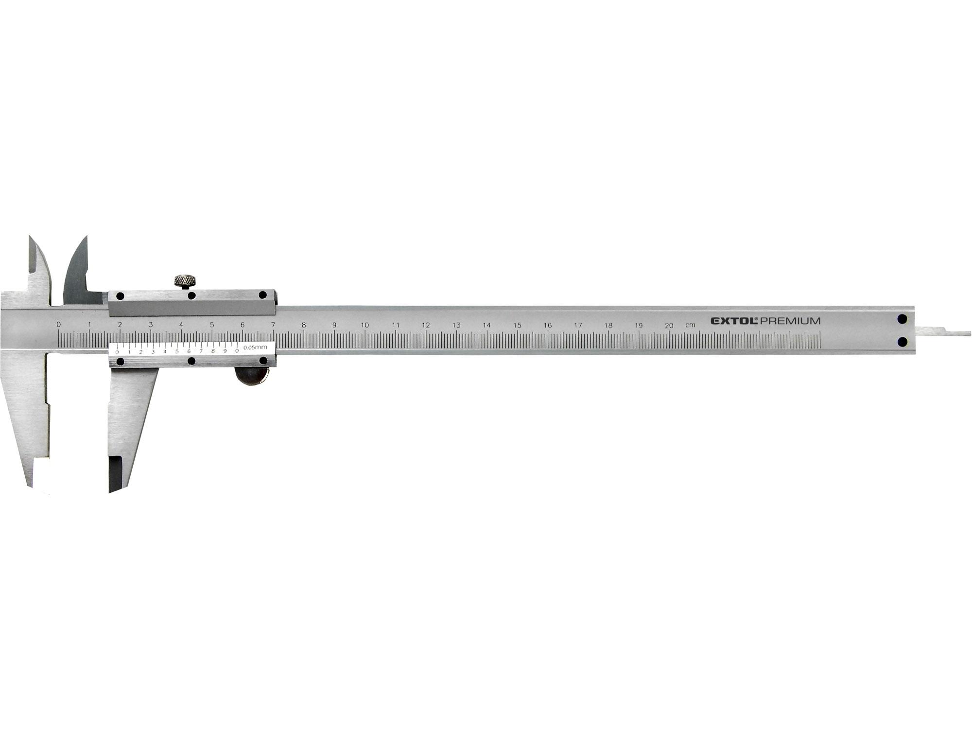 měřítko posuvné kovové, 0-200mm, EXTOL PREMIUM 3422