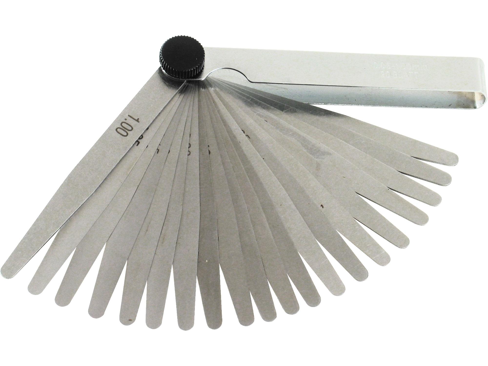 měrky spárové, 20ks, 0,05-1mm, EXTOL CRAFT 3220