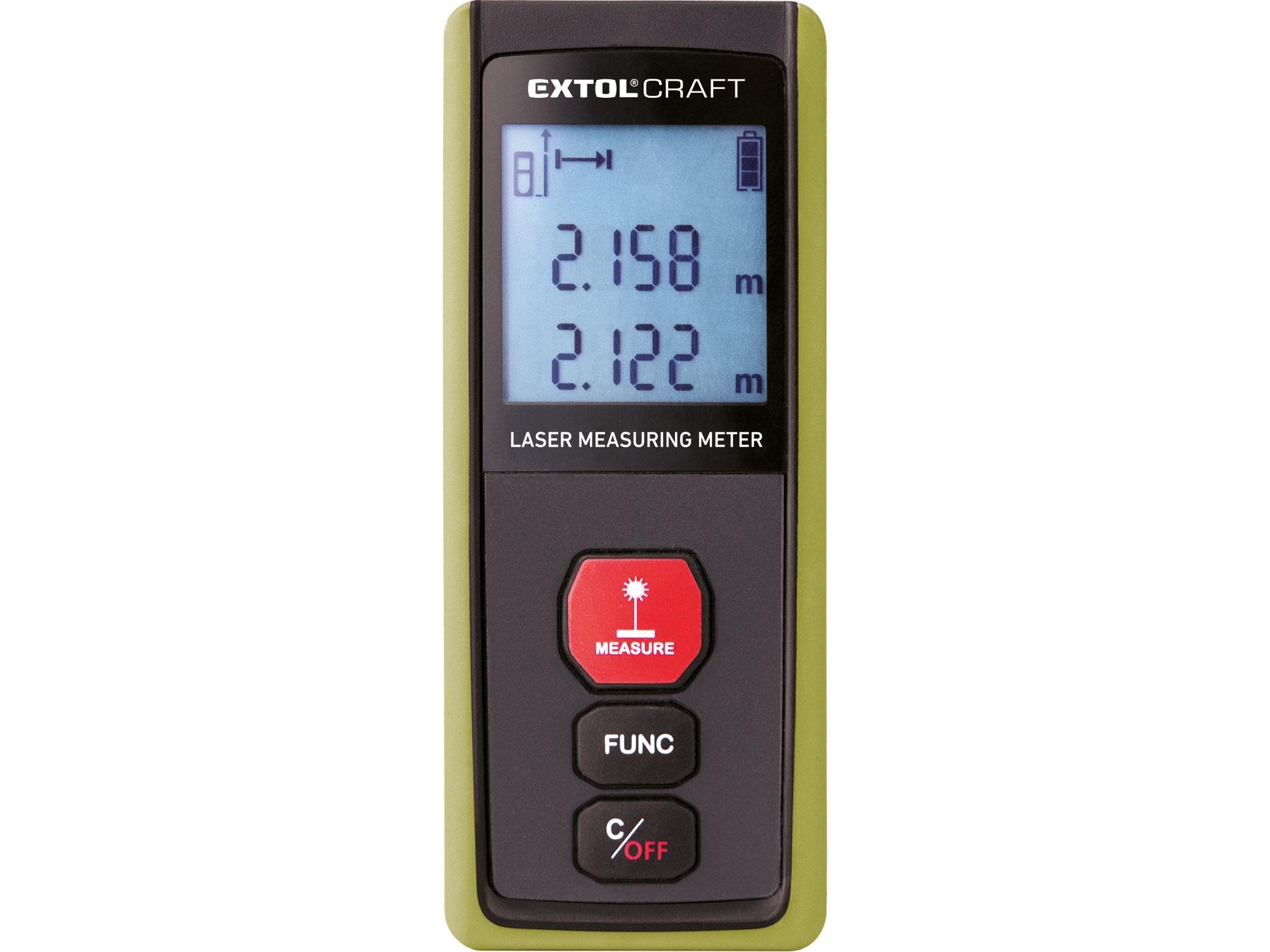metr laserový digitální 40M, 0,15-40m, EXTOL CRAFT 920201