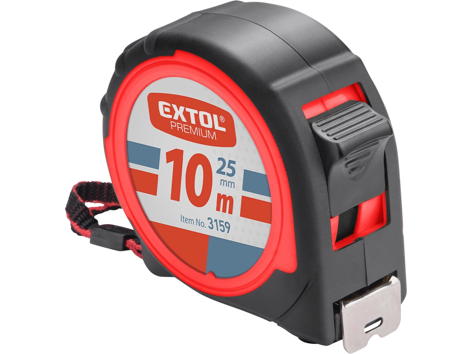 metr svinovací, 10m, š. pásku 25mm, EXTOL PREMIUM 3159