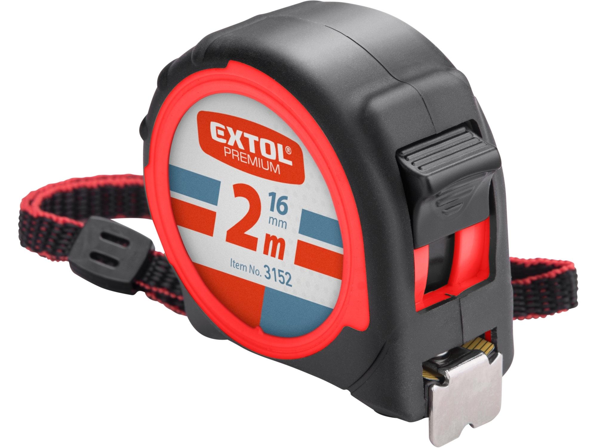 metr svinovací, 2m, š. pásku 16mm, EXTOL PREMIUM 3152