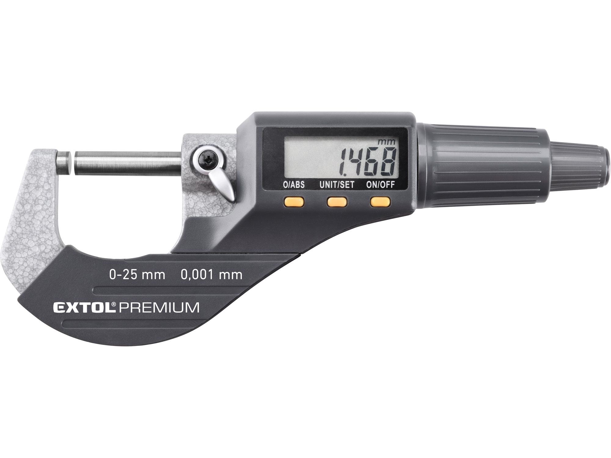 mikrometr digitální, 0-25mm