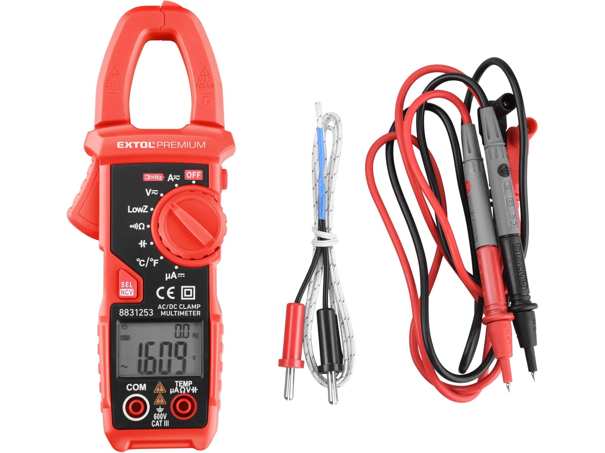 multimetr digitální, klešťový, AC/DC proud a napětí, True RMS, LowZ, automatická volba rozsahů
