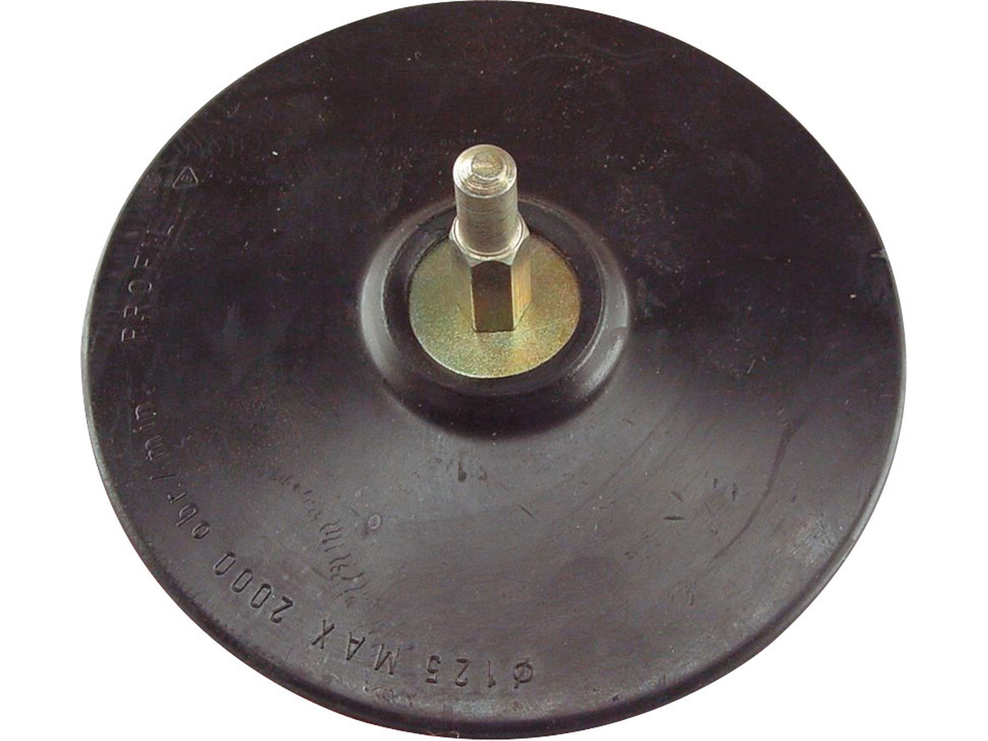 nosič brusných výseků, do vrtačky - suchý zip, O 125mm, stopka 8mm