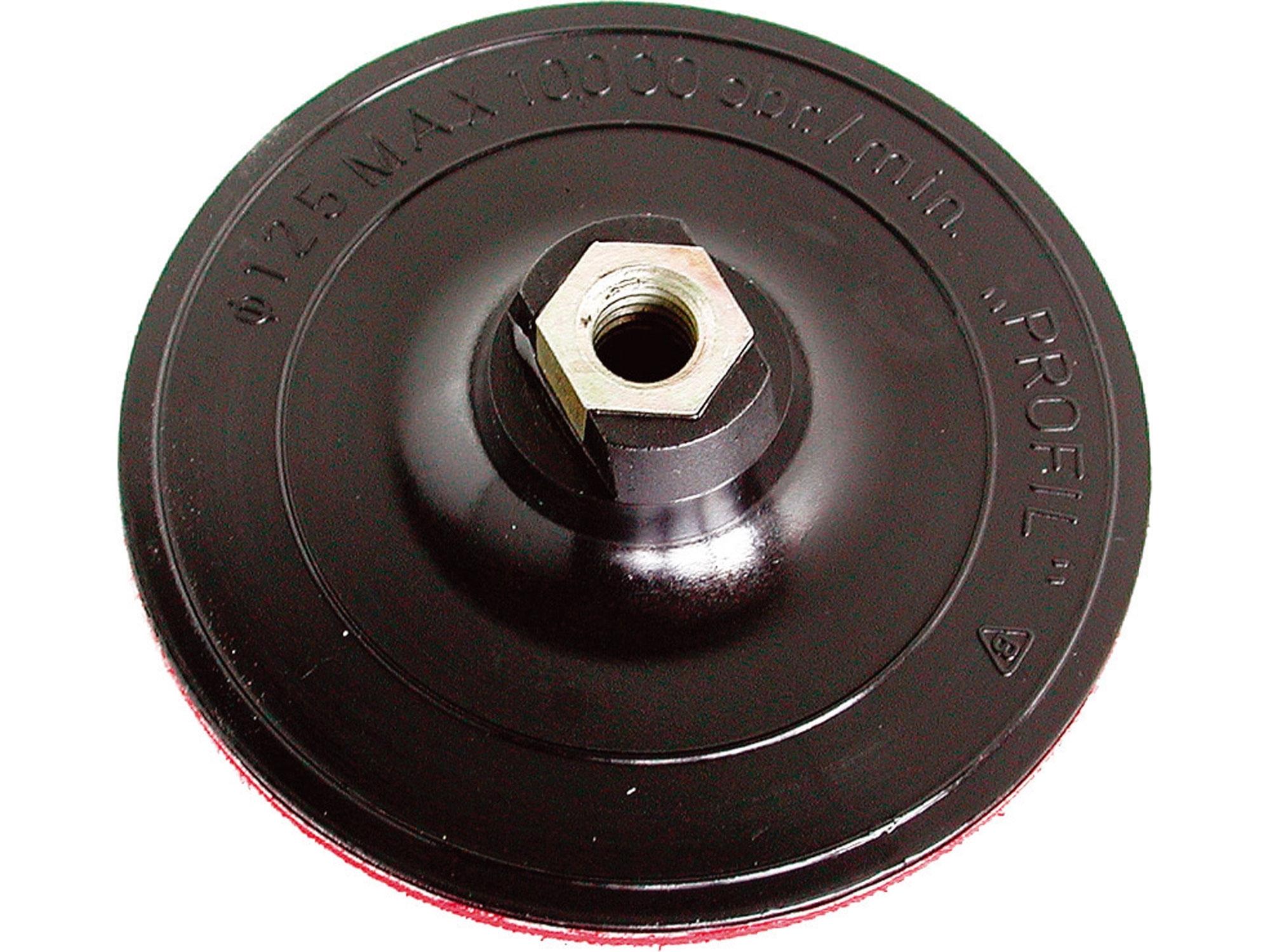 nosič brusných výseků - M14, suchý zip, O 125mm
