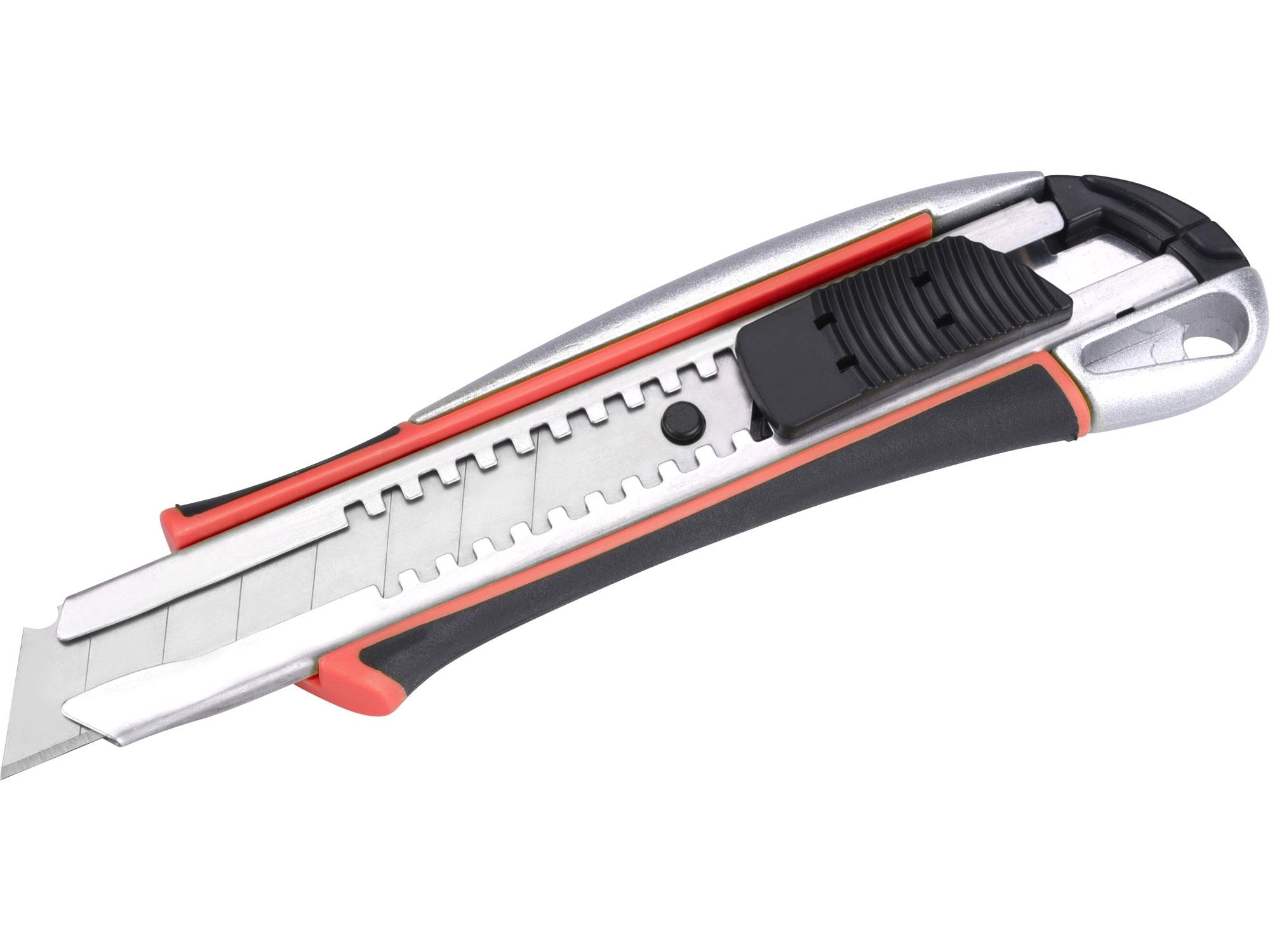 nůž ulamovací kovový s výstuhou, 18mm Auto-lock