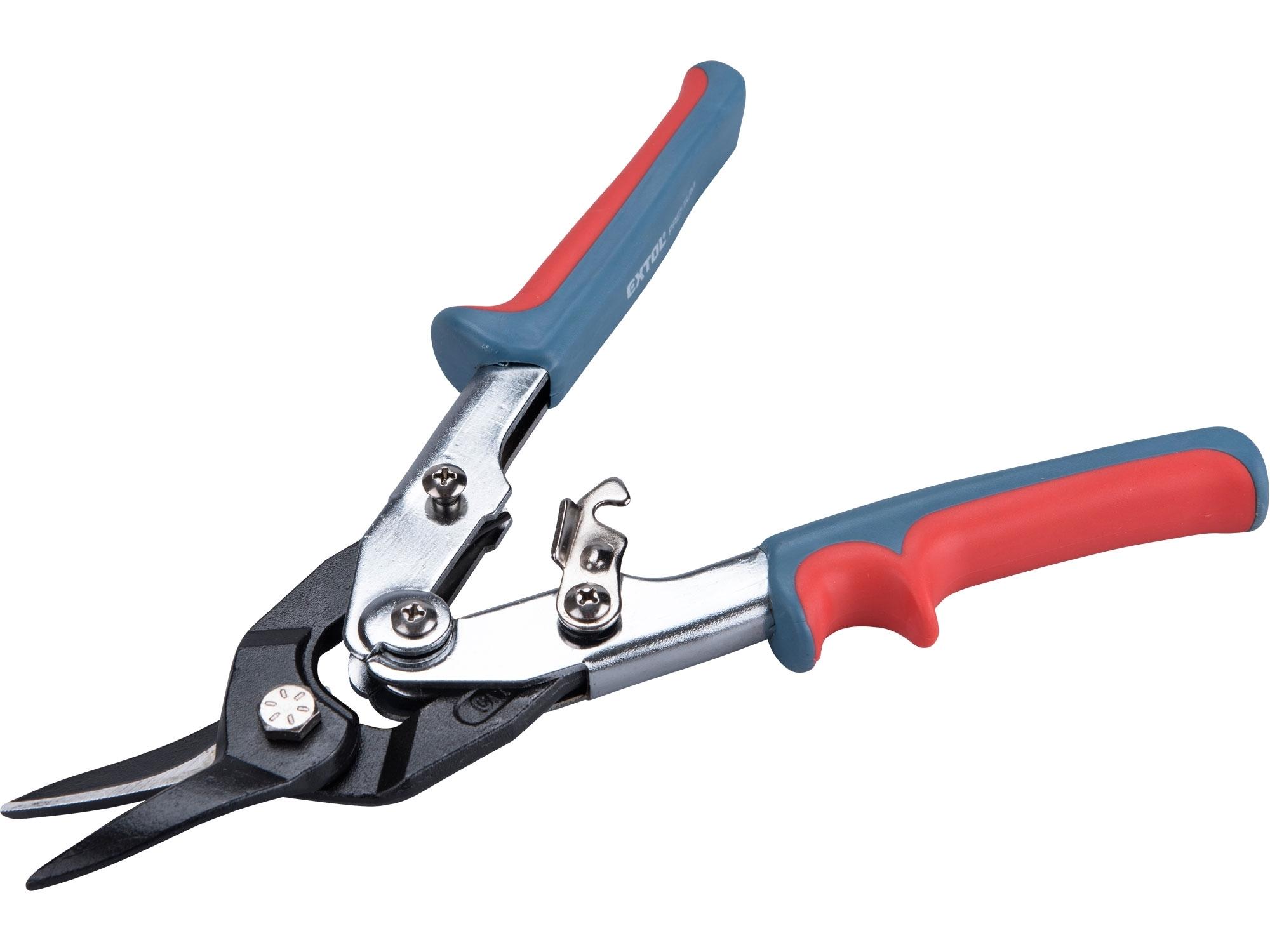 nůžky na plech převodové, 255mm, rovně a doleva, CrV, EXTOL PREMIUM 48000