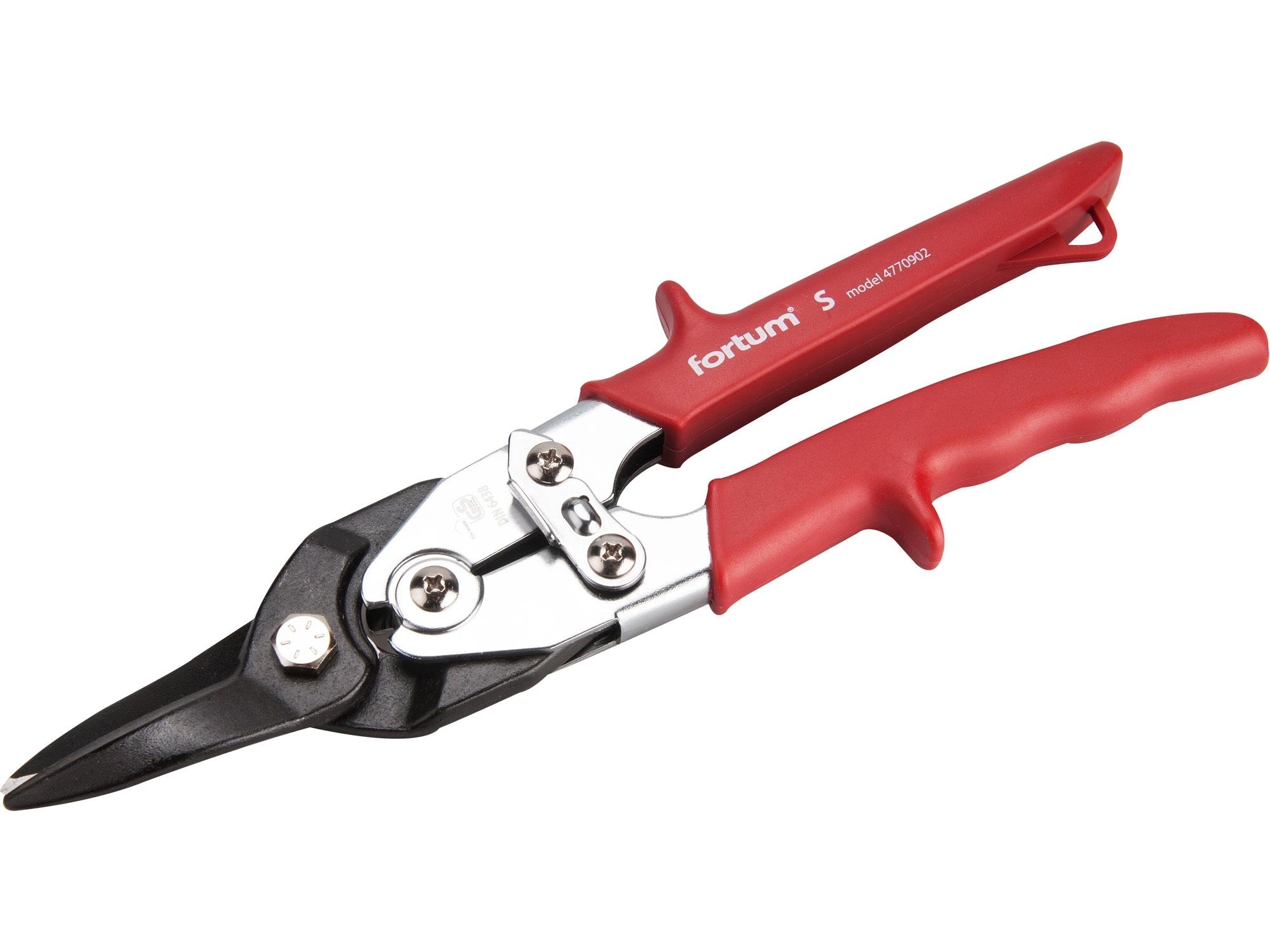 nůžky na plech převodové, 255mm, rovné, CrMoV, FORTUM 4770902