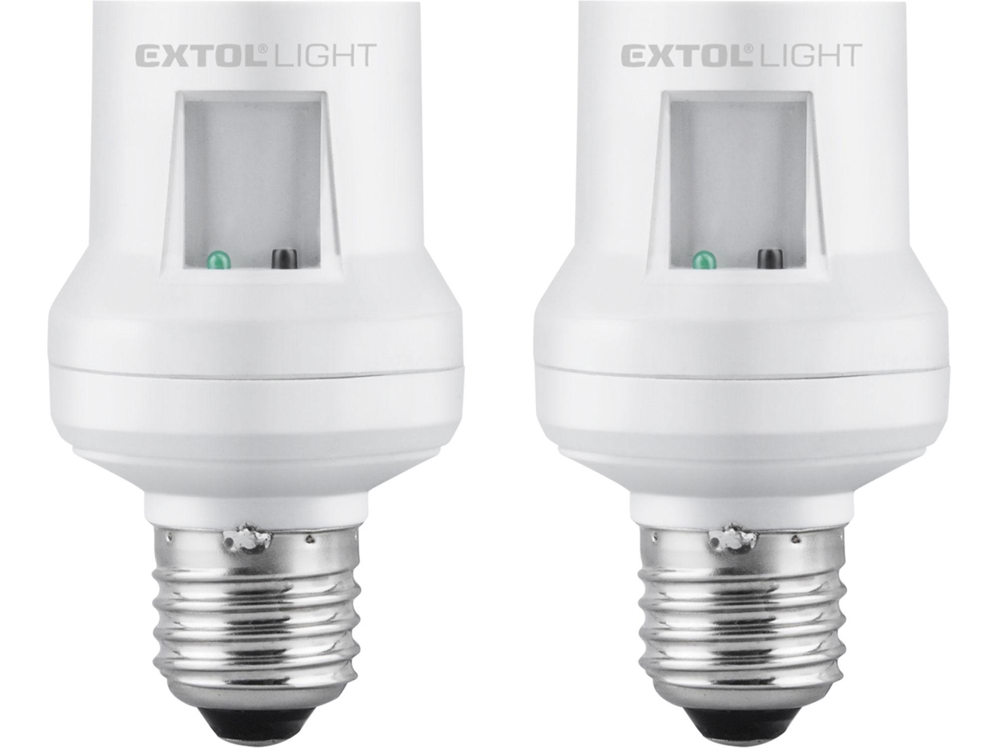 objímka na žárovku s dálkovým ovládáním, 2ks, max. 60W žárovka, E27, dosah 30m 43810
