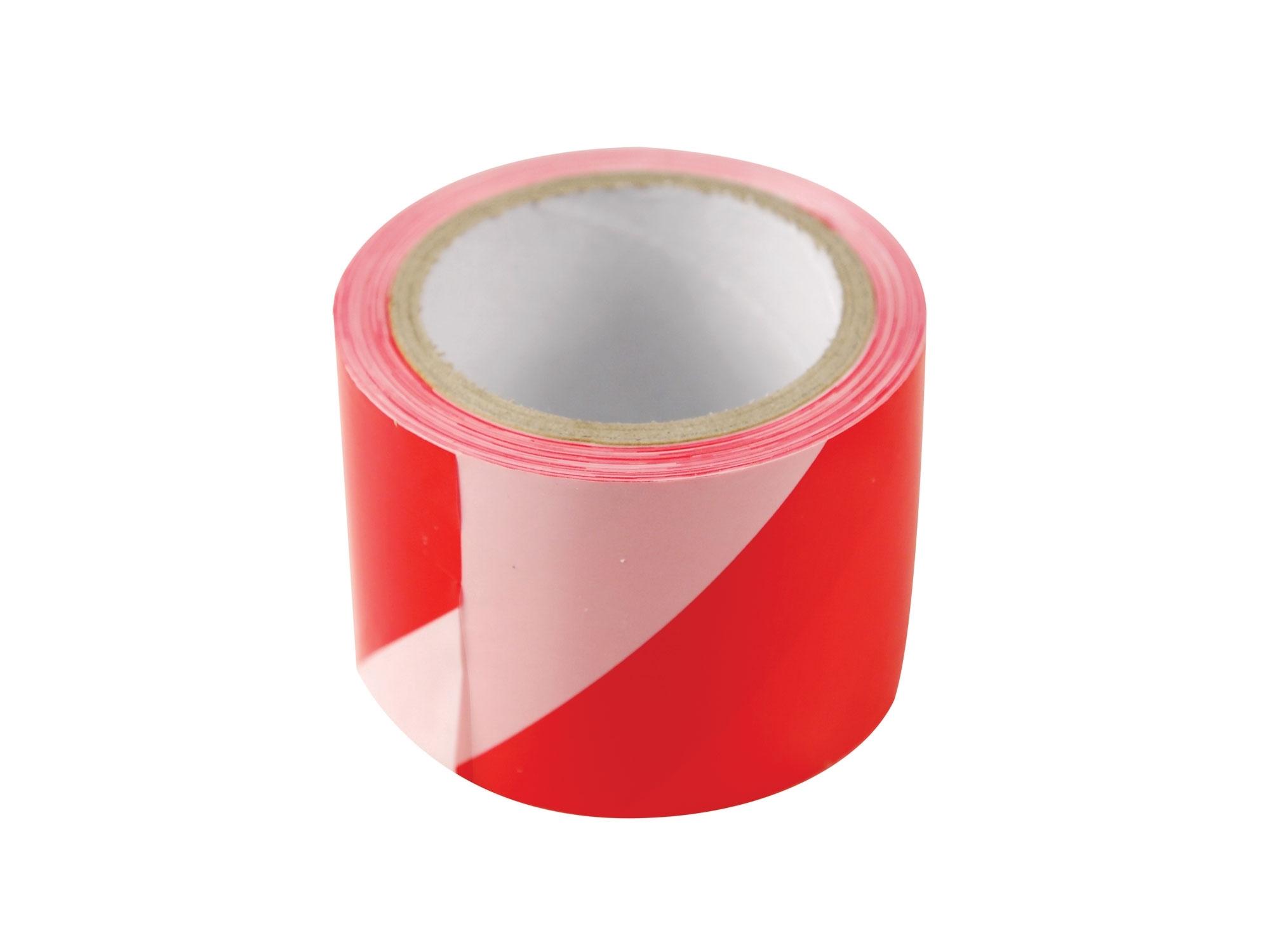 páska výstražná červeno-bílá, 75mm x 100m, PE, EXTOL CRAFT 9565