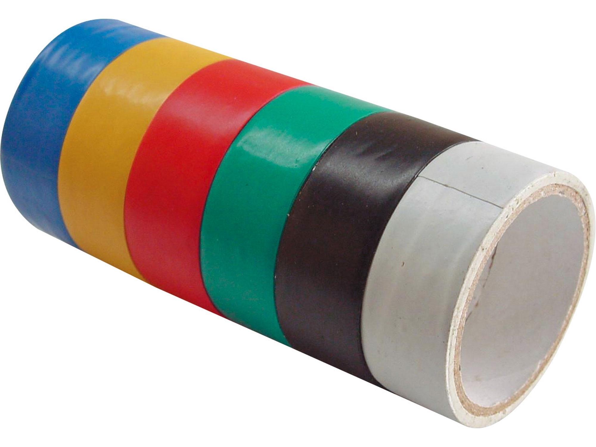 pásky izolační PVC, sada 6ks, 19mm x 18m (3m x 6ks), EXTOL CRAFT 9550